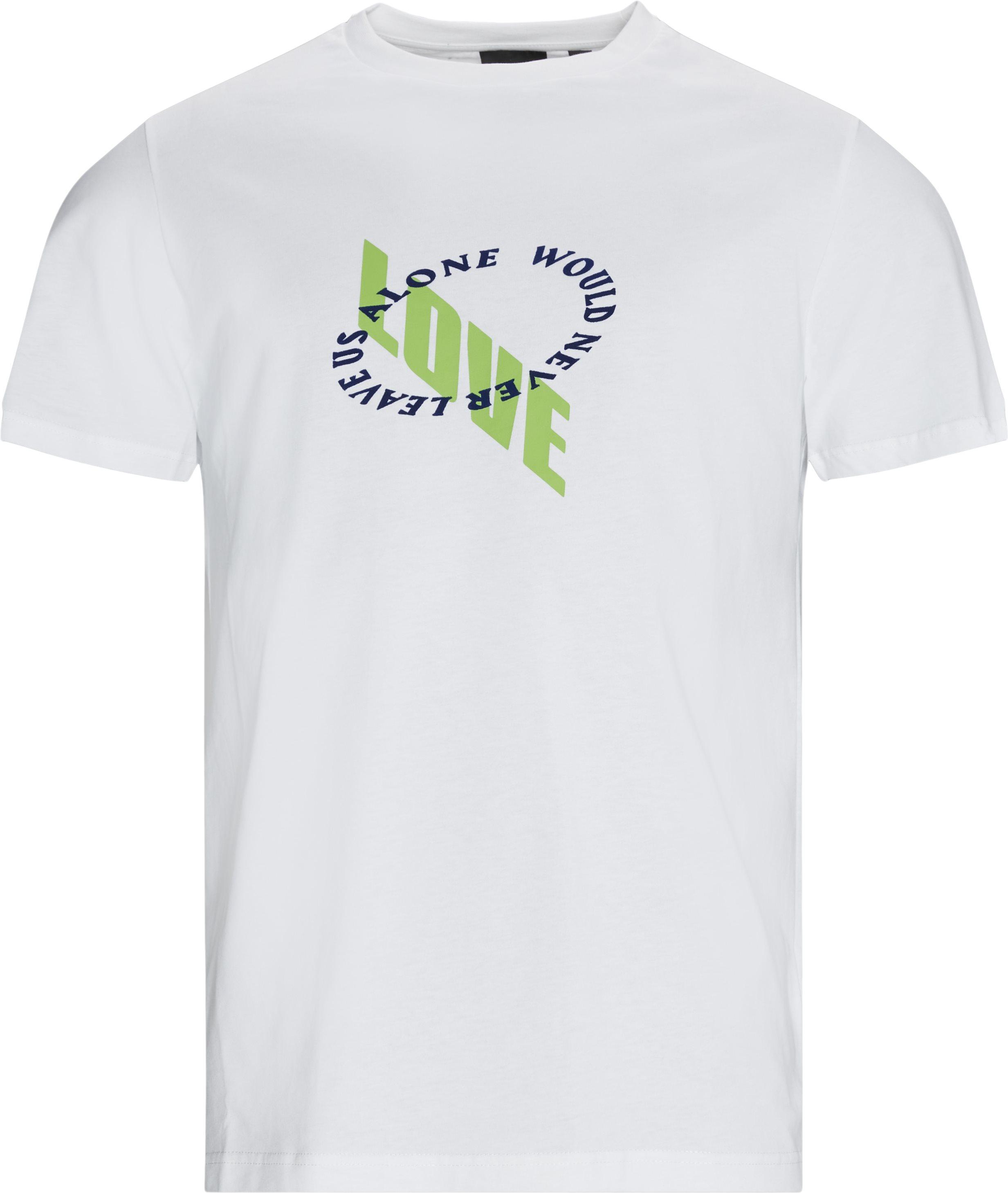 Kimhvi Tee - T-shirts - Regular - Vit