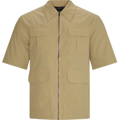 Khalil Kortærmet Skjorte Loose | Khalil Kortærmet Skjorte | Sand