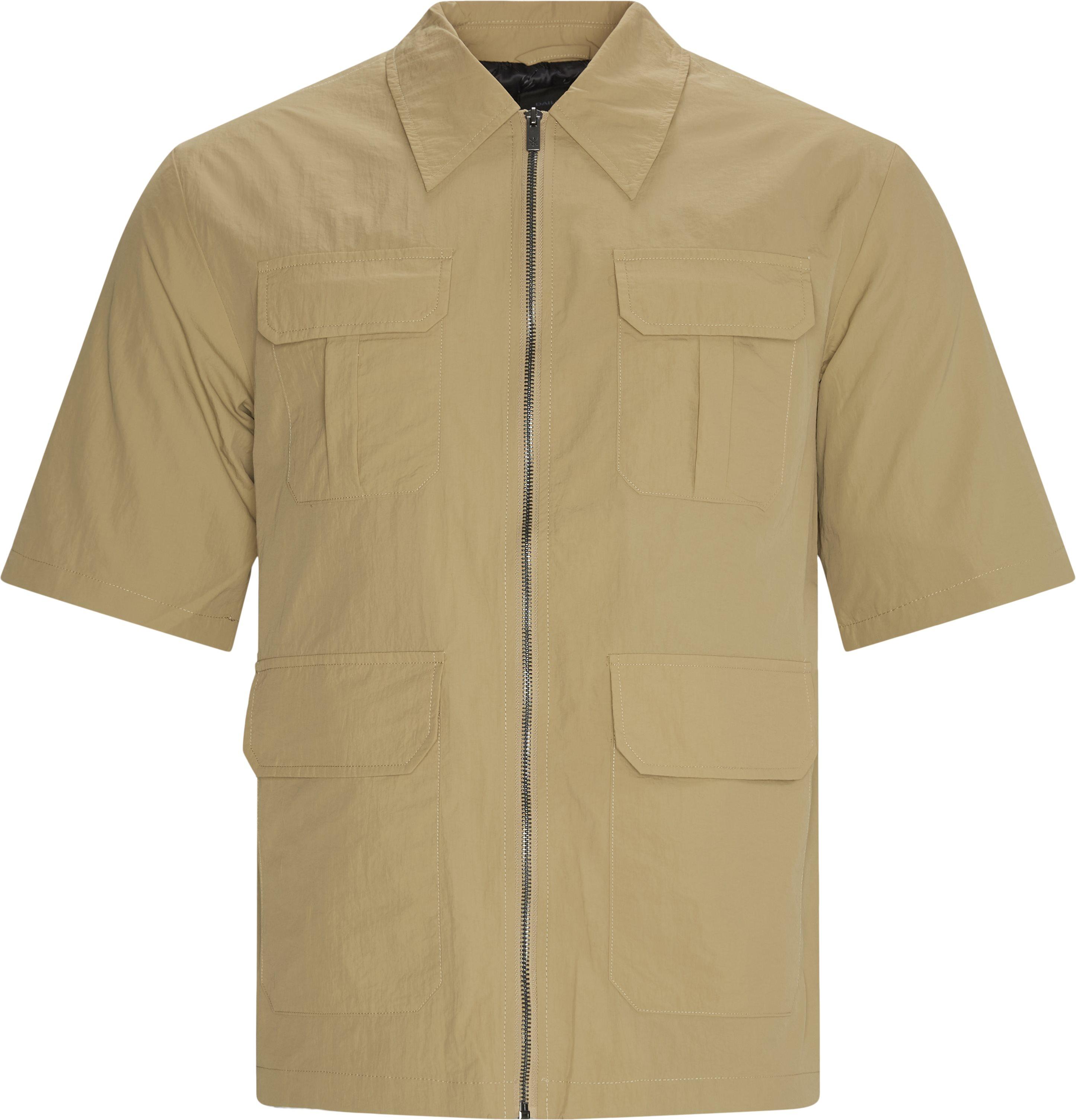 Khalil Kortærmet Skjorte - Skjorter - Loose - Sand