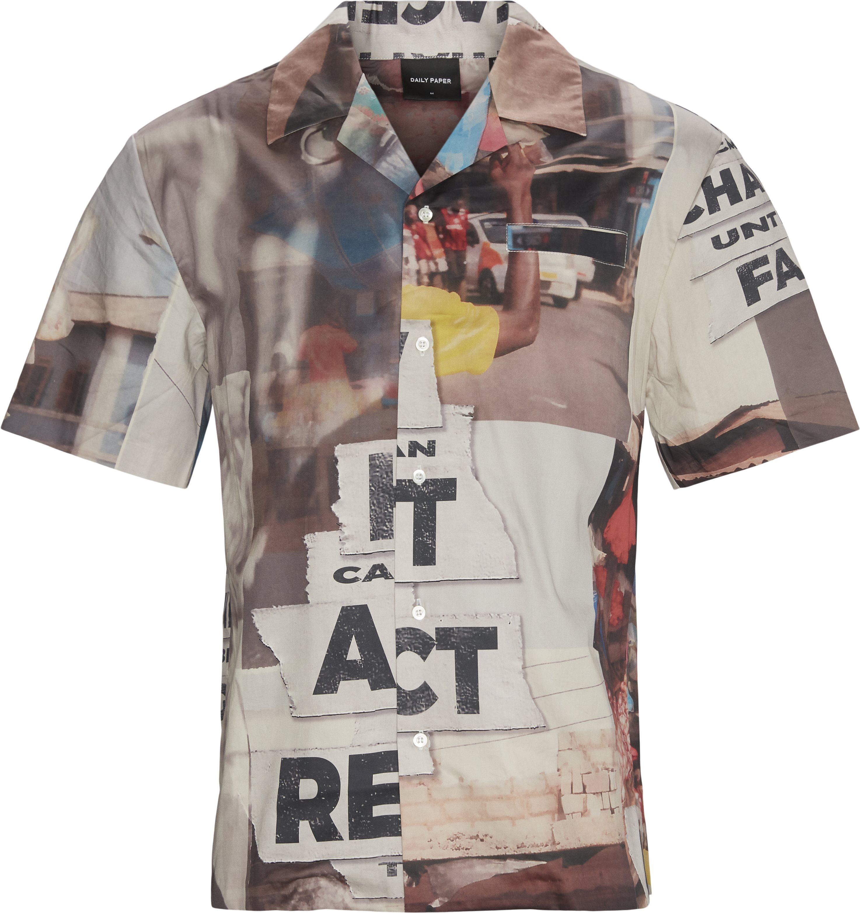 Kovan Collage Kortærmet Skjorte - Skjorter - Loose - Multi