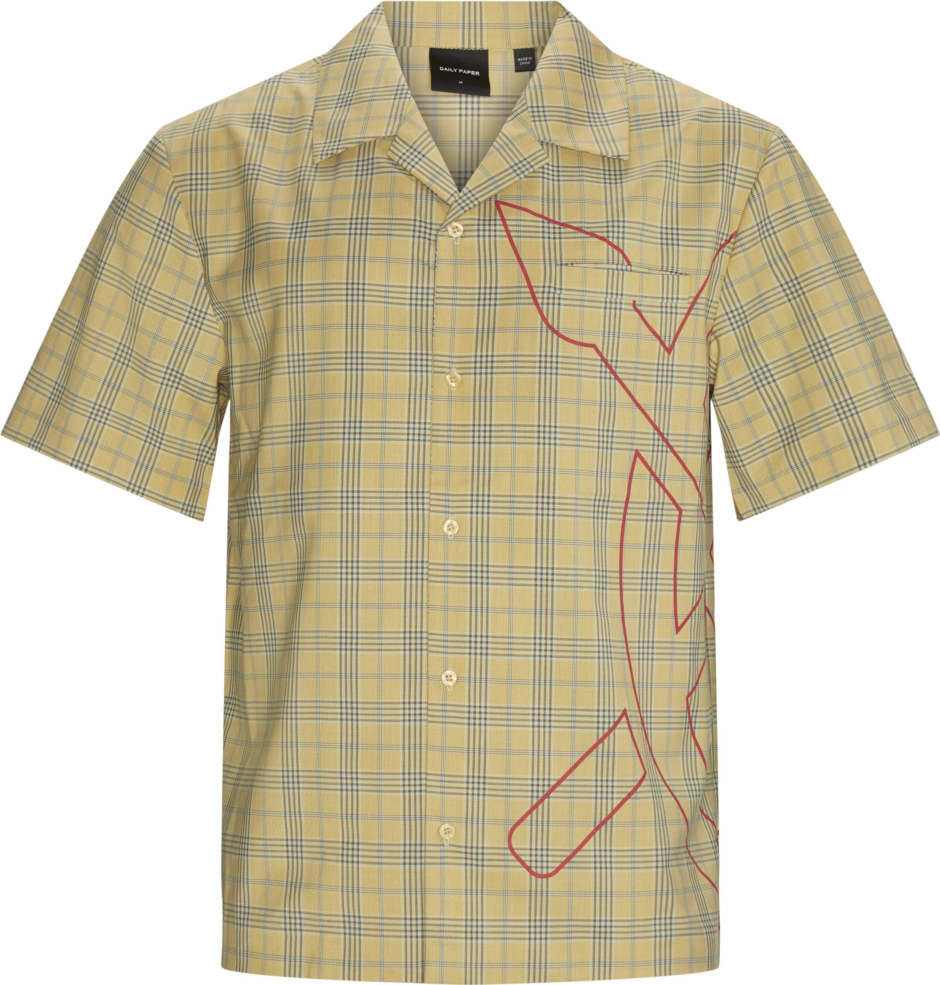 Kovan Kortærmet Skjorte - Skjorter - Loose - Gul