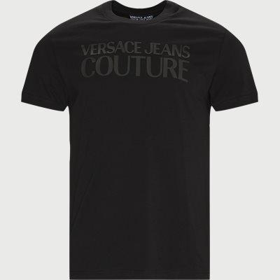 Organic Cotton Logo T-shirt Slim | Organic Cotton Logo T-shirt | Sort