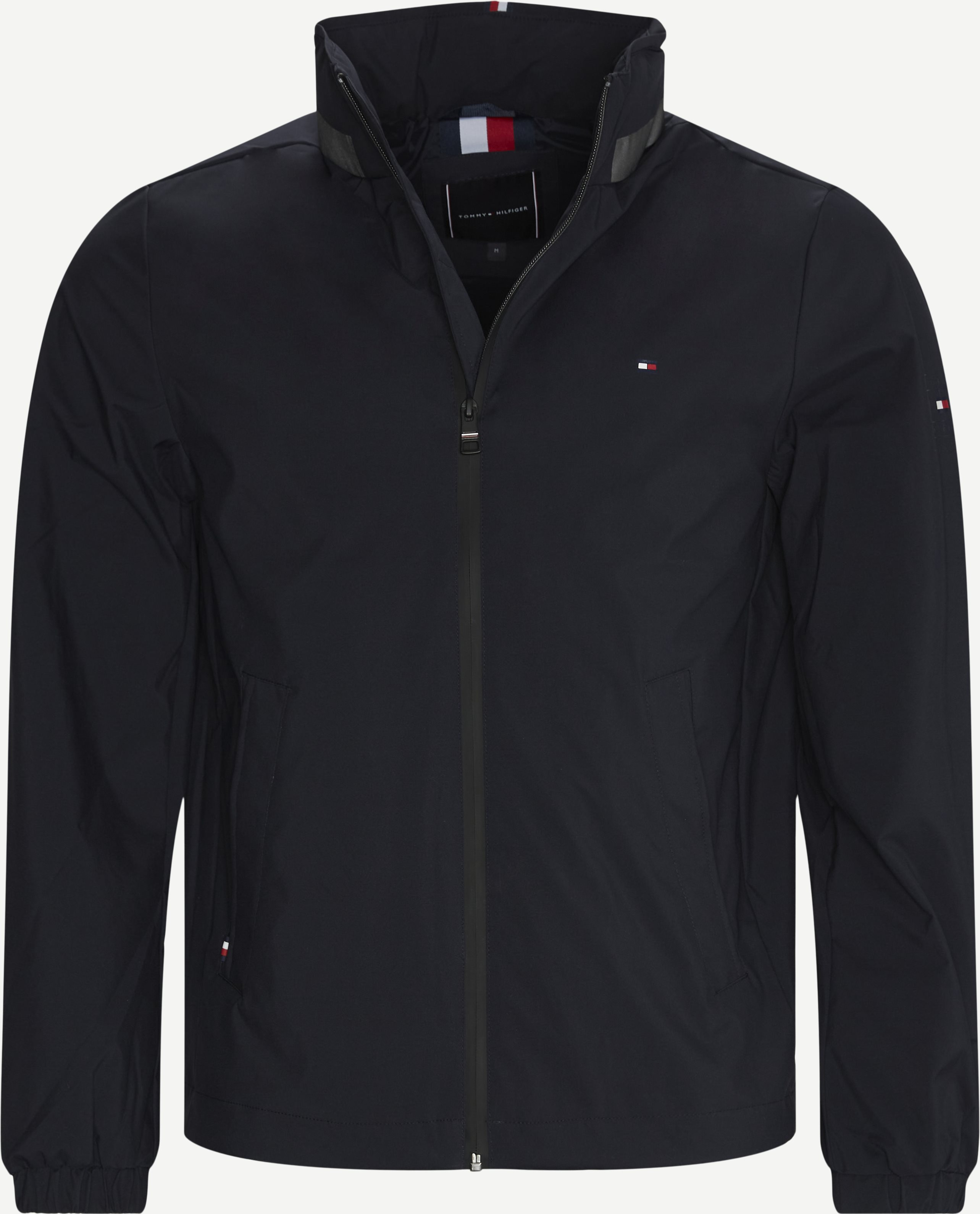 Stand Collar Jacket - Jakker - Regular - Blå