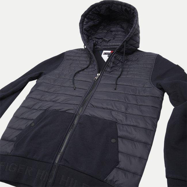 Jaquard Mixed Media Zip Sweatshirt