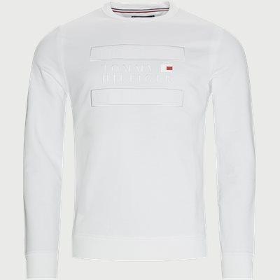 Applique Crewneck Sweatshirt Regular fit | Applique Crewneck Sweatshirt | Hvid