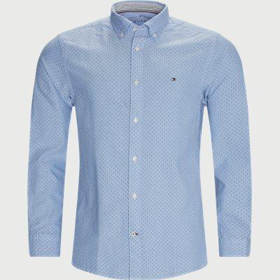 Oxford Mini Print Skjorte Regular | Oxford Mini Print Skjorte | Blå