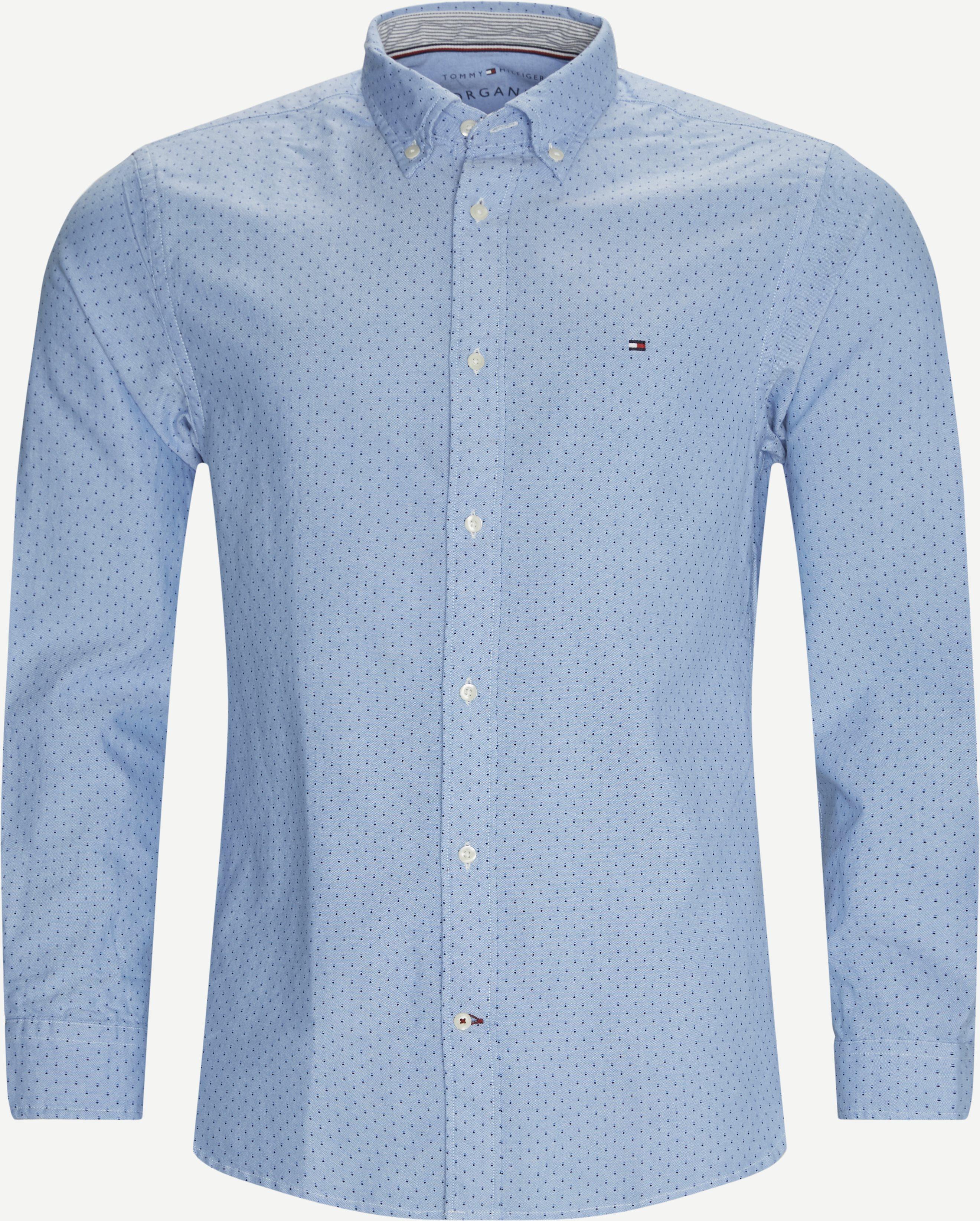Oxford Mini Print Skjorte - Skjorter - Regular - Blå