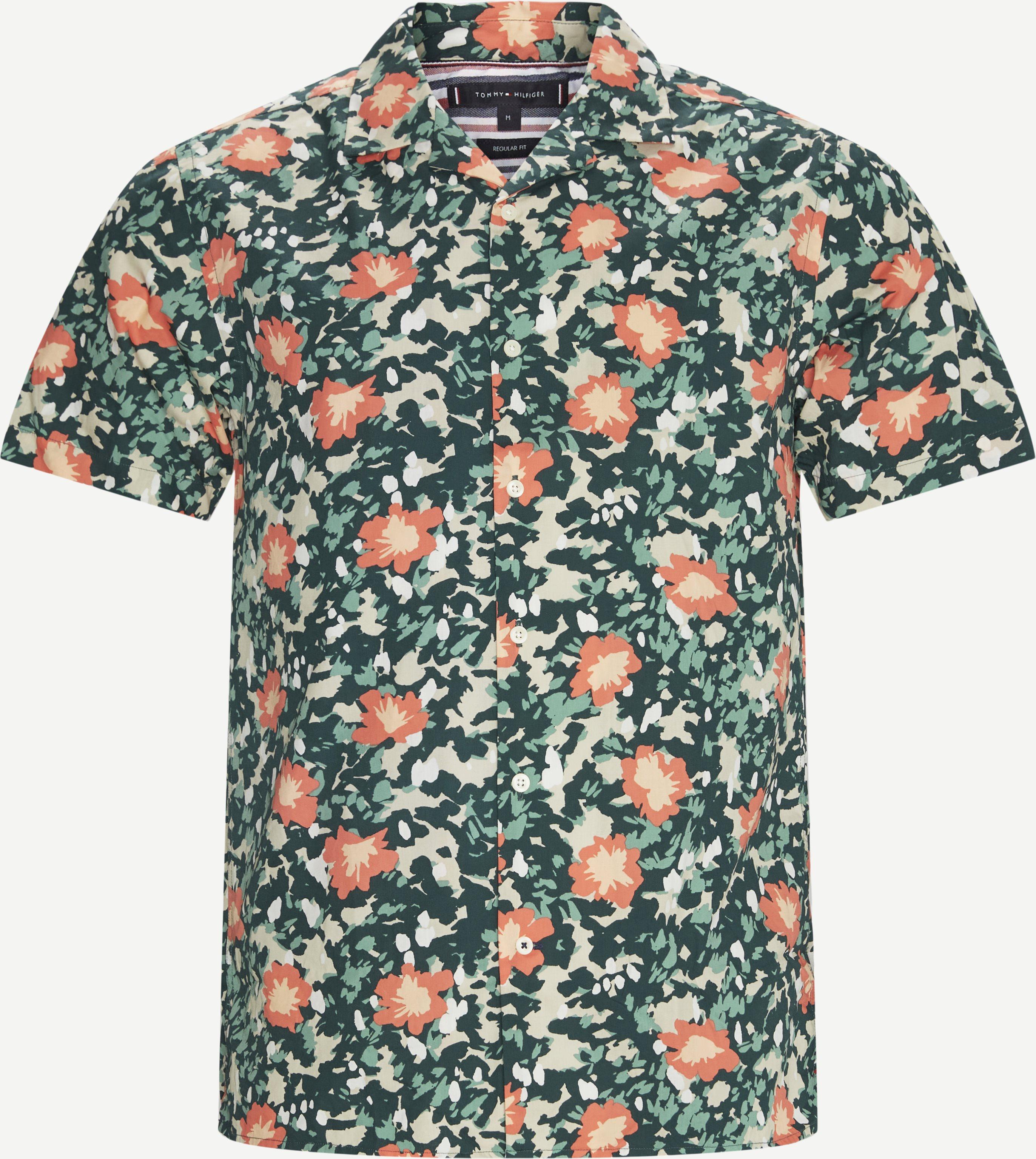 Floral Camo K/Æ Skjorte - Kortärmade skjortor - Regular fit - Multi