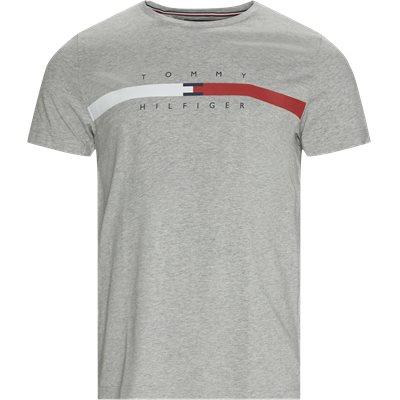 Global Stripe Chest T-shirt Regular | Global Stripe Chest T-shirt | Grey