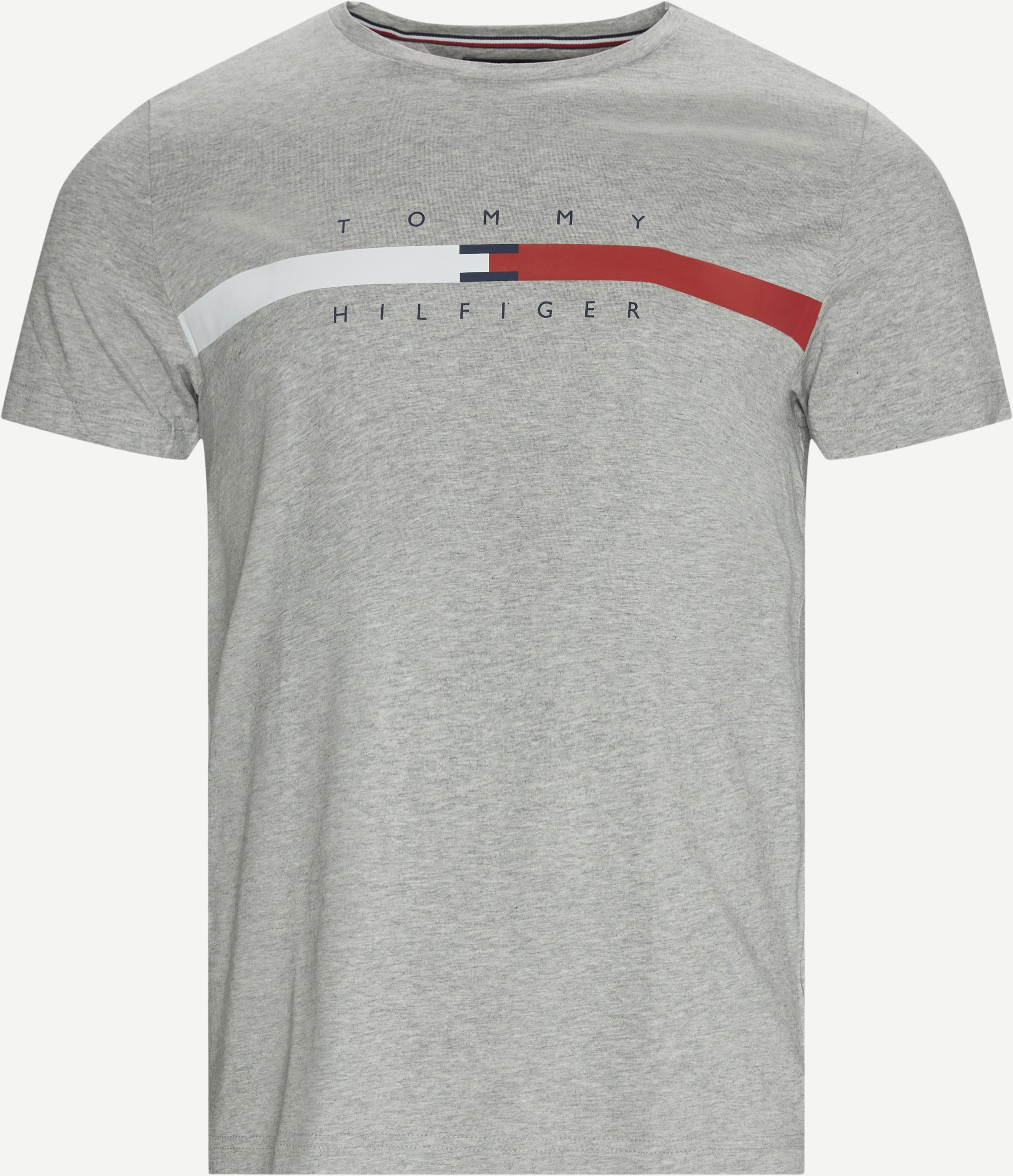 Global Stripe Chest T-shirt - T-shirts - Regular - Grey