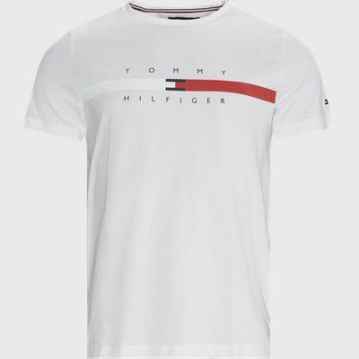 Global Stripe Chest T-shirt Regular | Global Stripe Chest T-shirt | Hvid