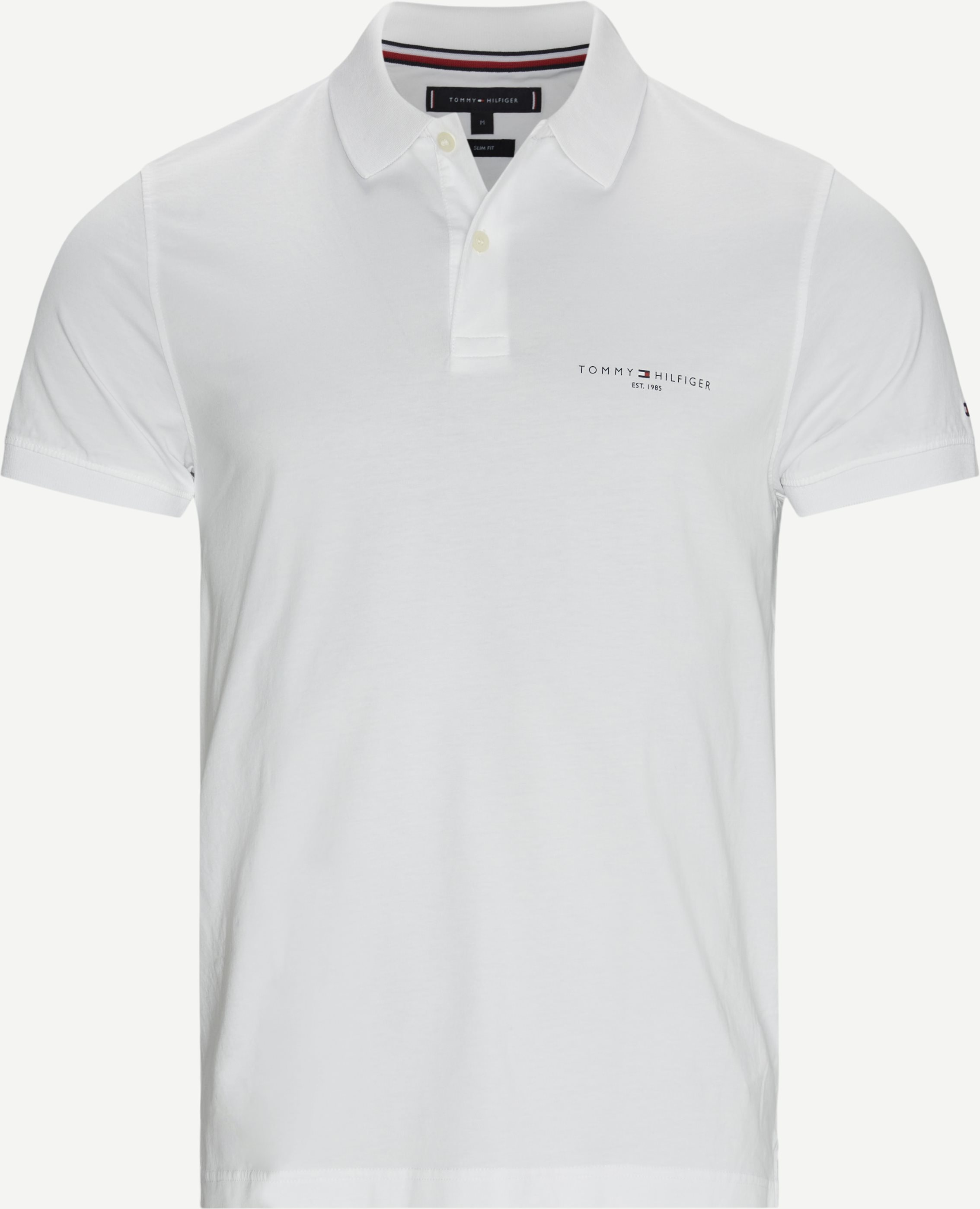 Clean Jersey Slim Polo T-shirt - T-shirts - Slim fit - Hvid