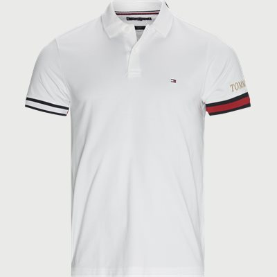 Flag Cuff Polo T-shirt Slim | Flag Cuff Polo T-shirt | Hvid