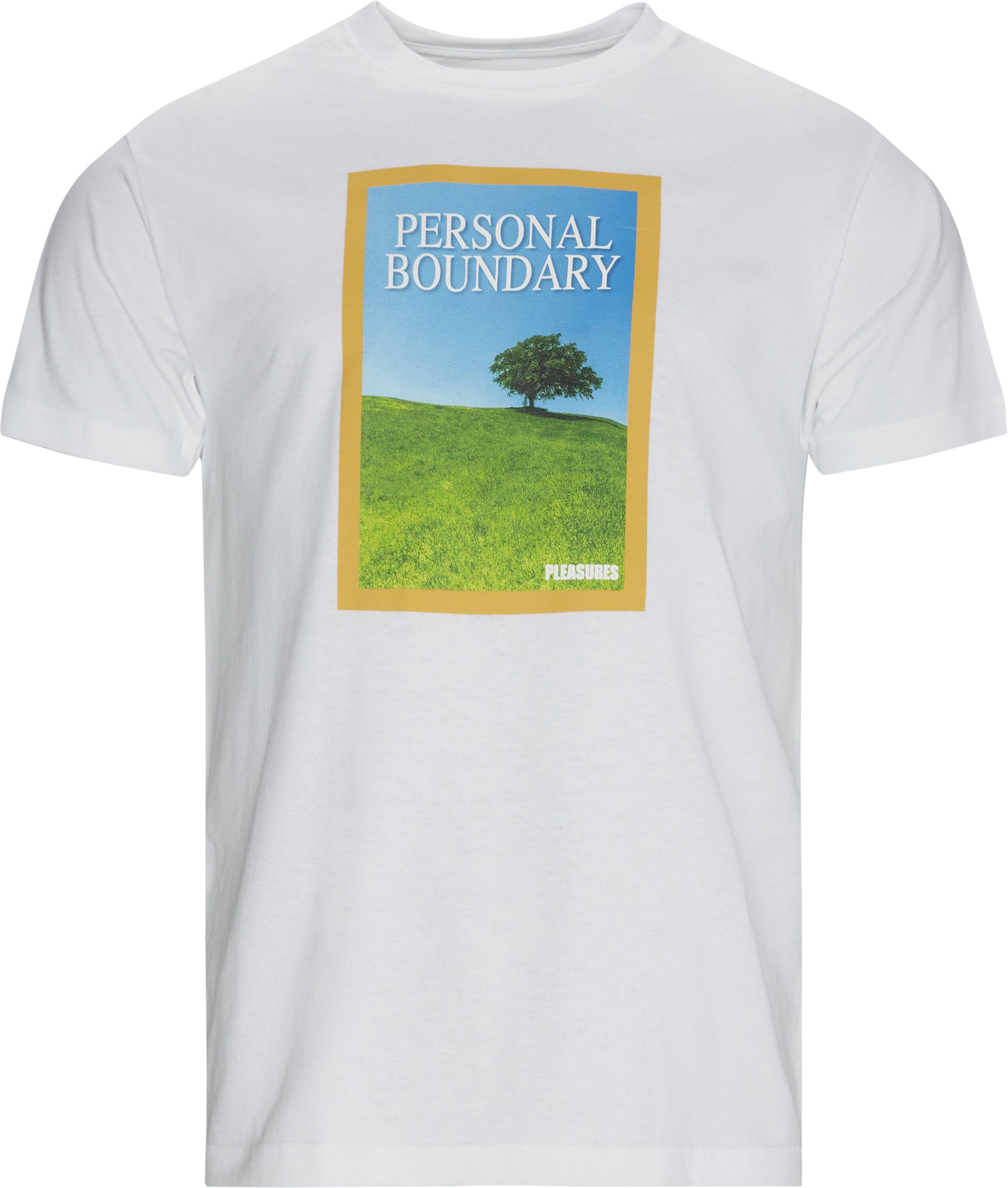 Boundary Tee - T-shirts - Regular - Vit