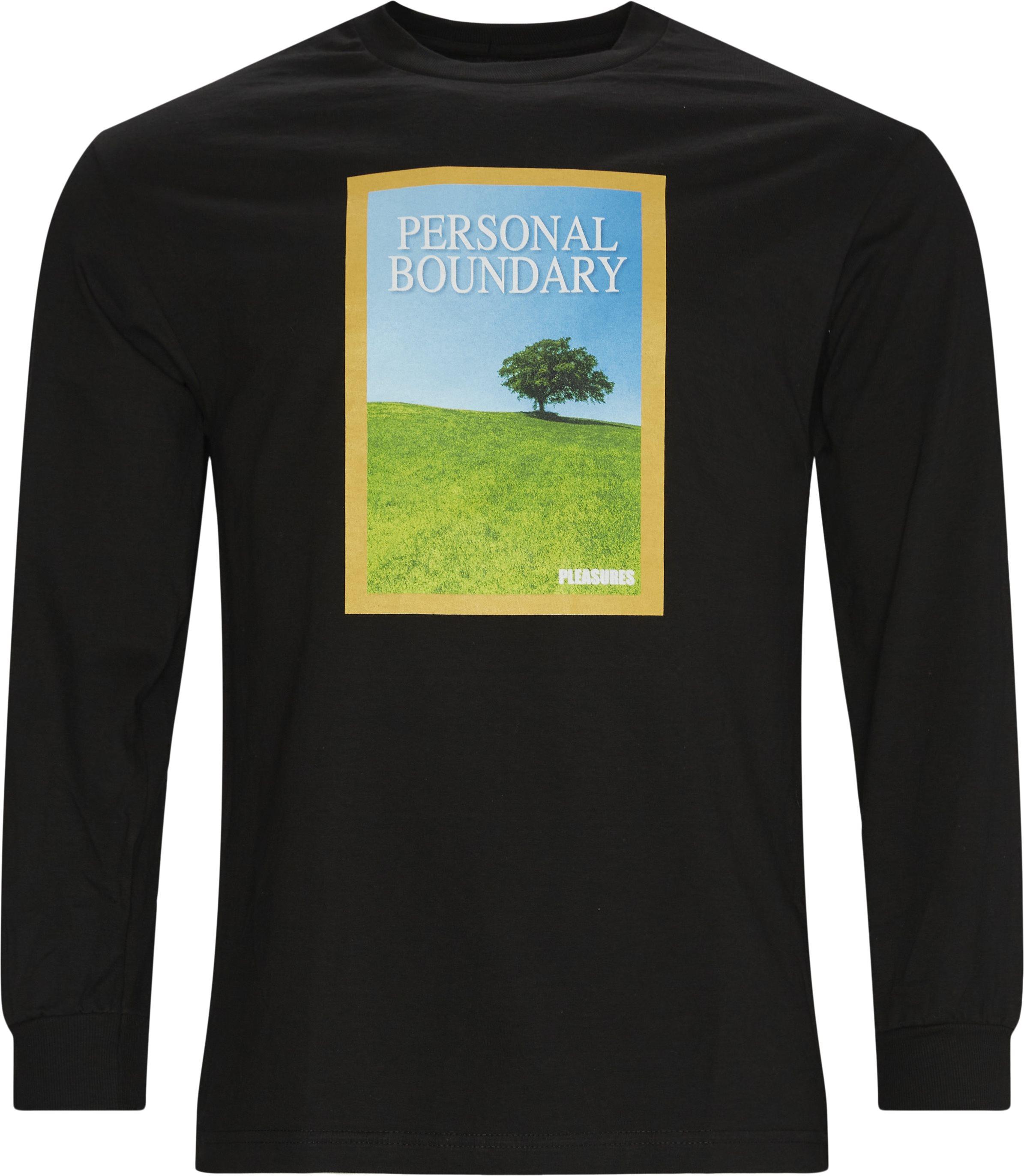 Boundary Long Sleeve Tee - T-shirts - Regular - Svart