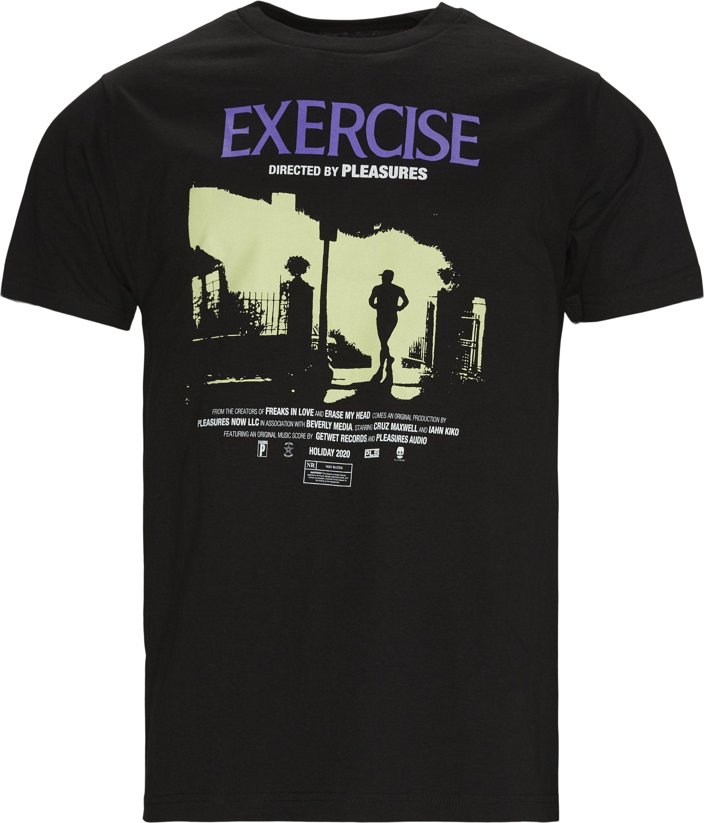 Exercise Tee - T-shirts - Regular - Svart