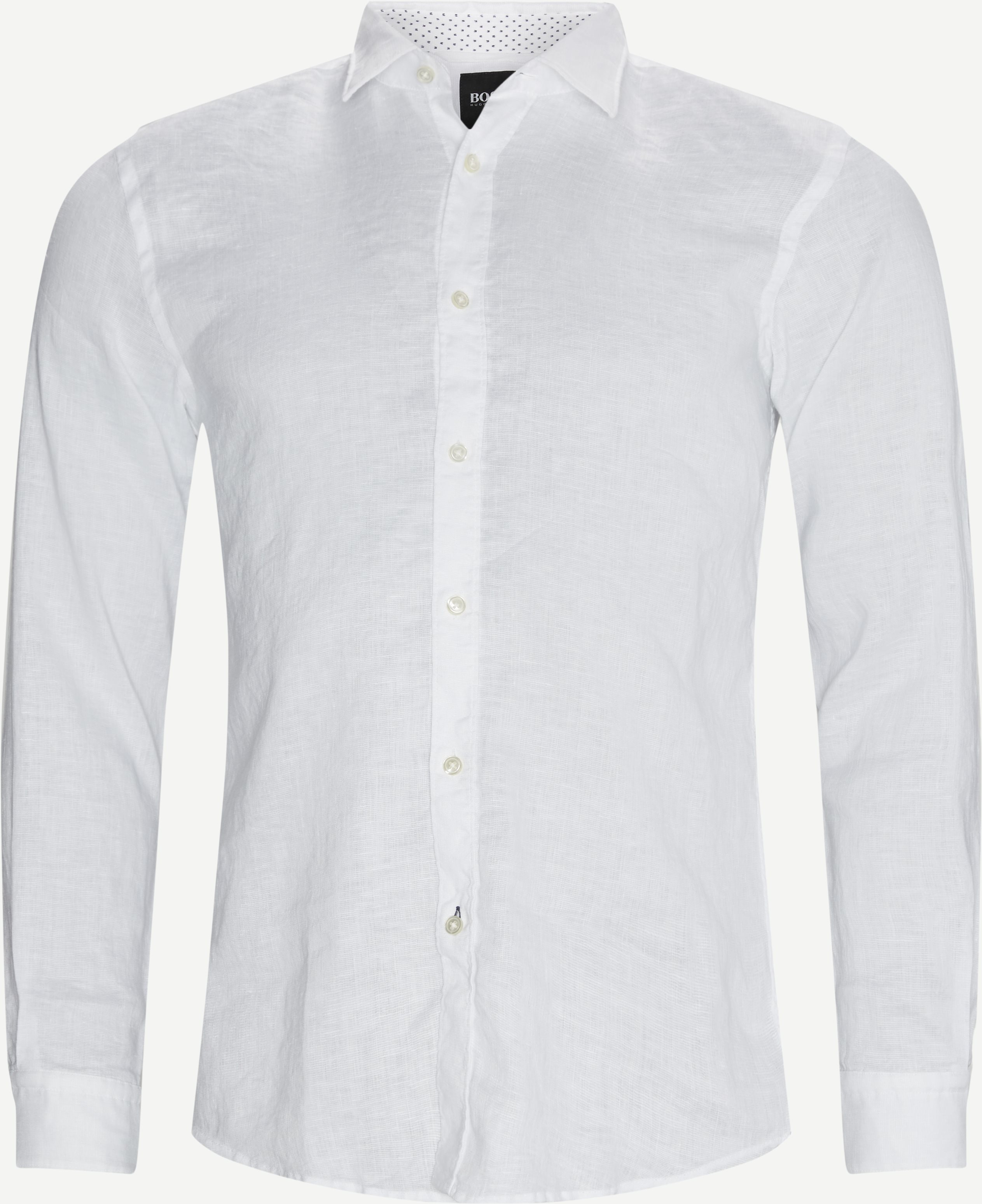 Ronni_53 Shirt - Skjortor - Slim - Vit