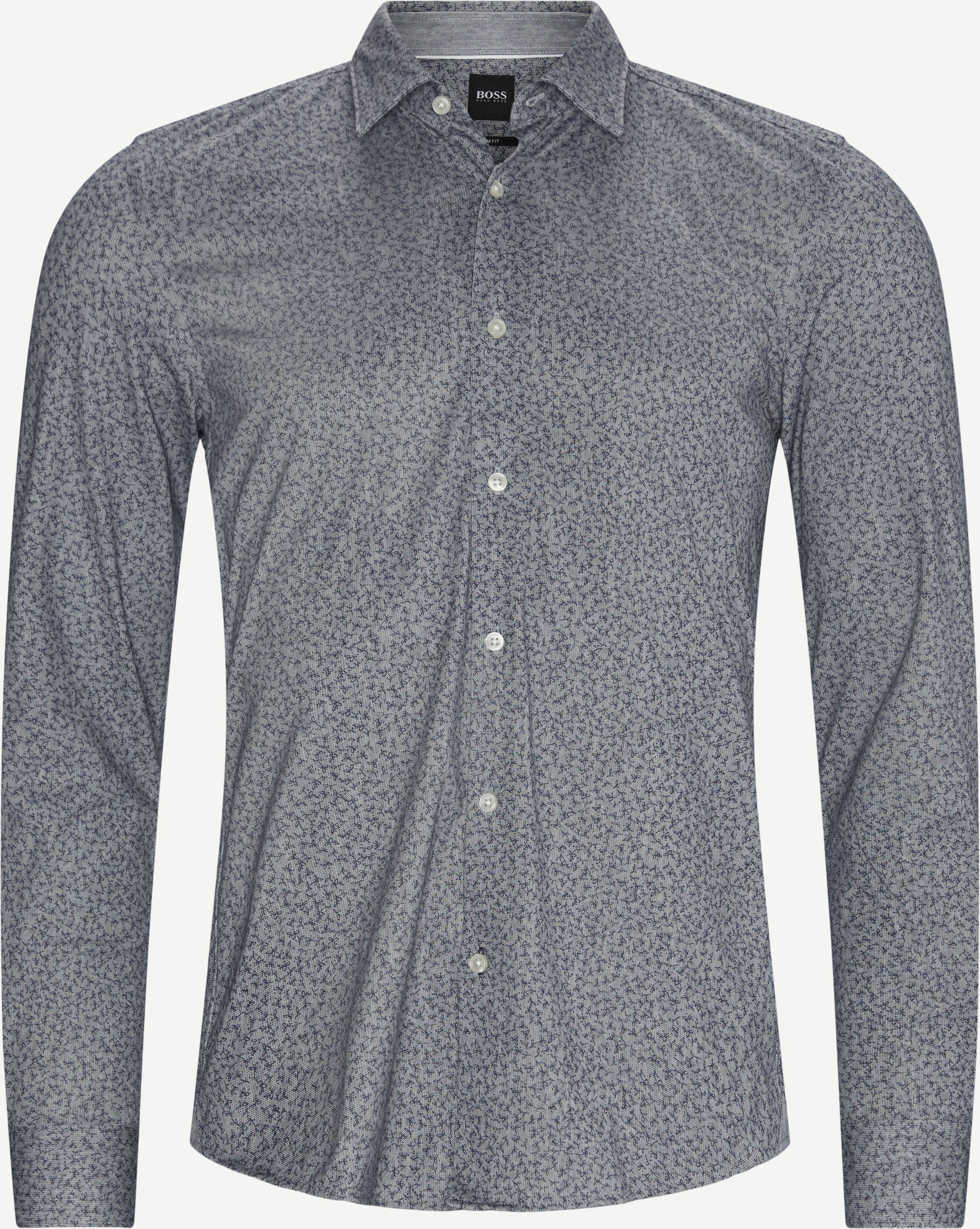 Ronni Skjorte - Skjortor - Slim - Blå