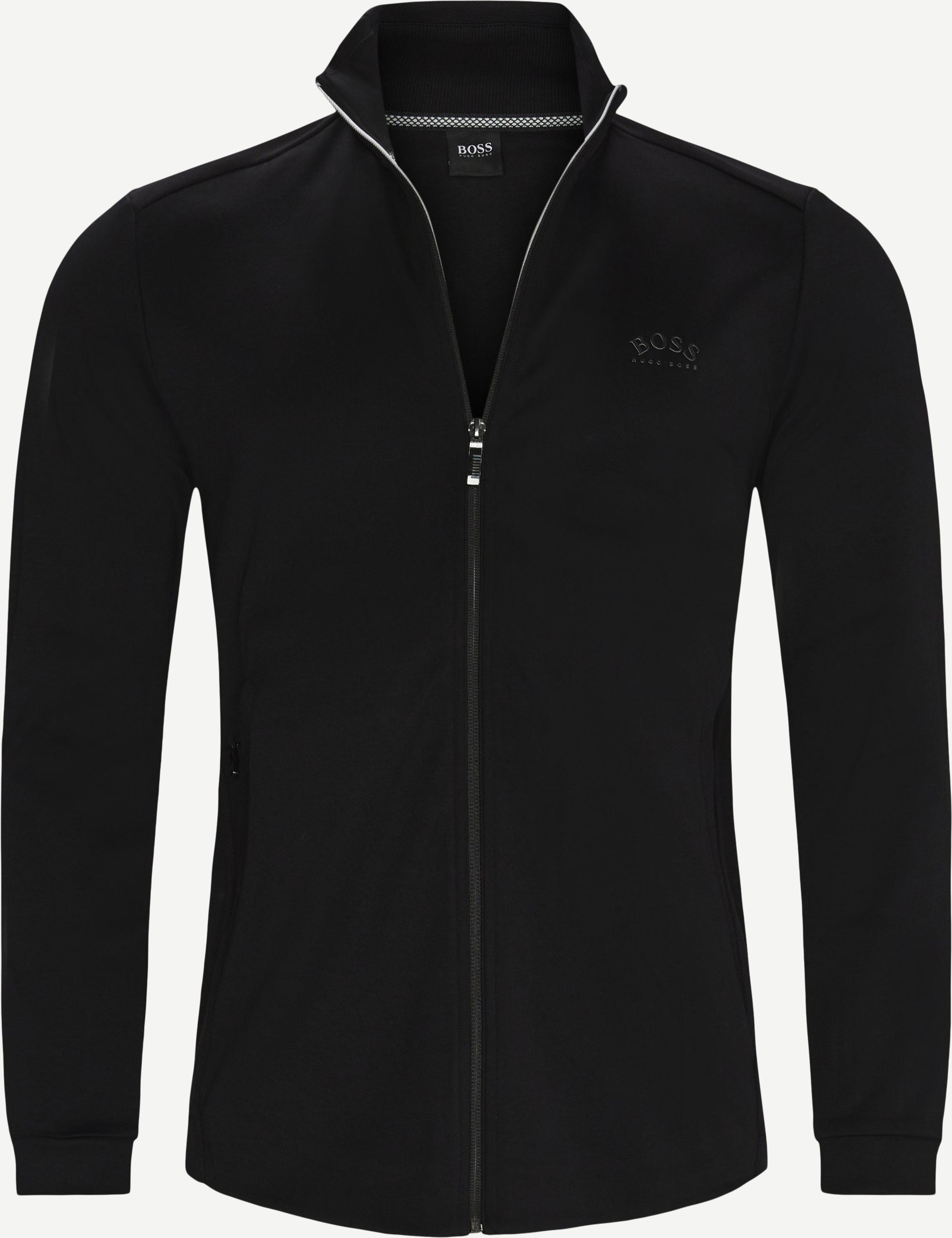 Skaz Zip Sweatshirt - Sweatshirts - Regular fit - Sort