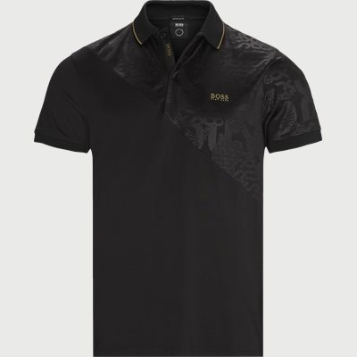 Paddy Gold Polo T-shirt Regular | Paddy Gold Polo T-shirt | Black