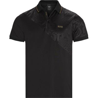 Paddy Gold Polo T-shirt Regular | Paddy Gold Polo T-shirt | Black
