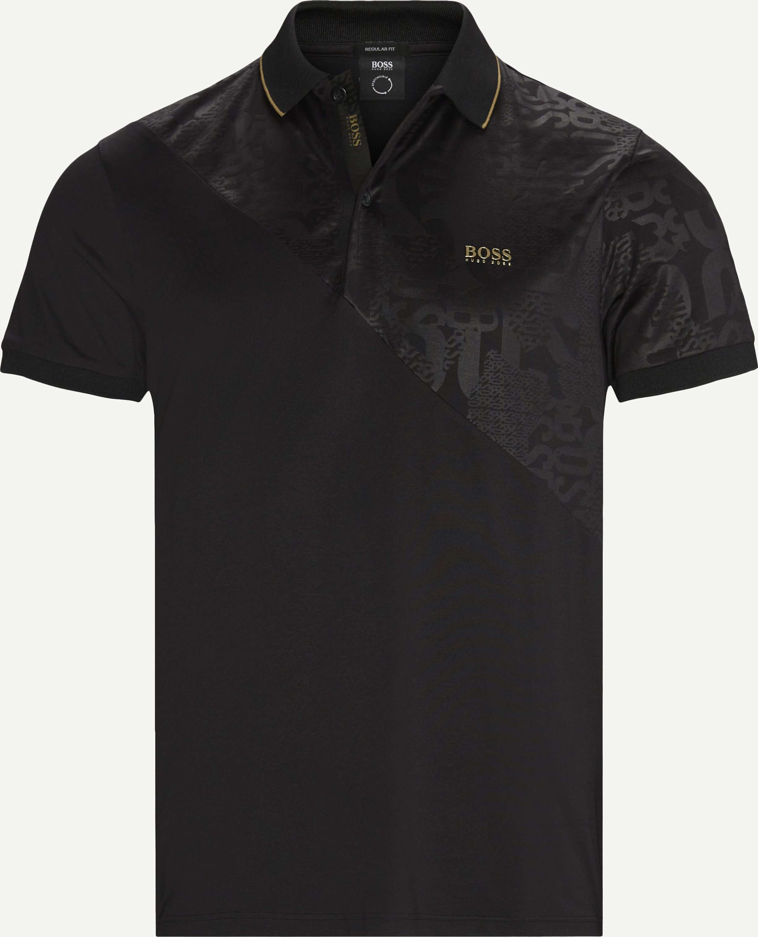 Paddy Gold Polo T-shirt - T-shirts - Regular - Svart