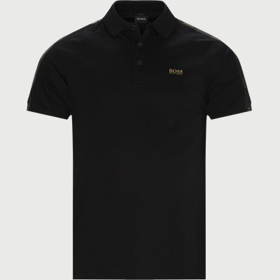 Paul Gold Polo T-shirt Slim fit | Paul Gold Polo T-shirt | Sort