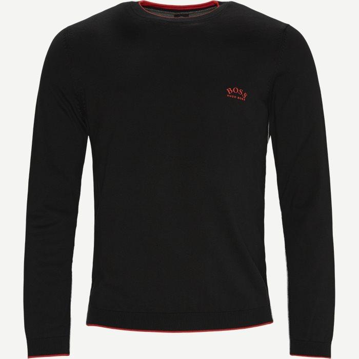 Riston Striktrøje - Stickat - Regular - Svart