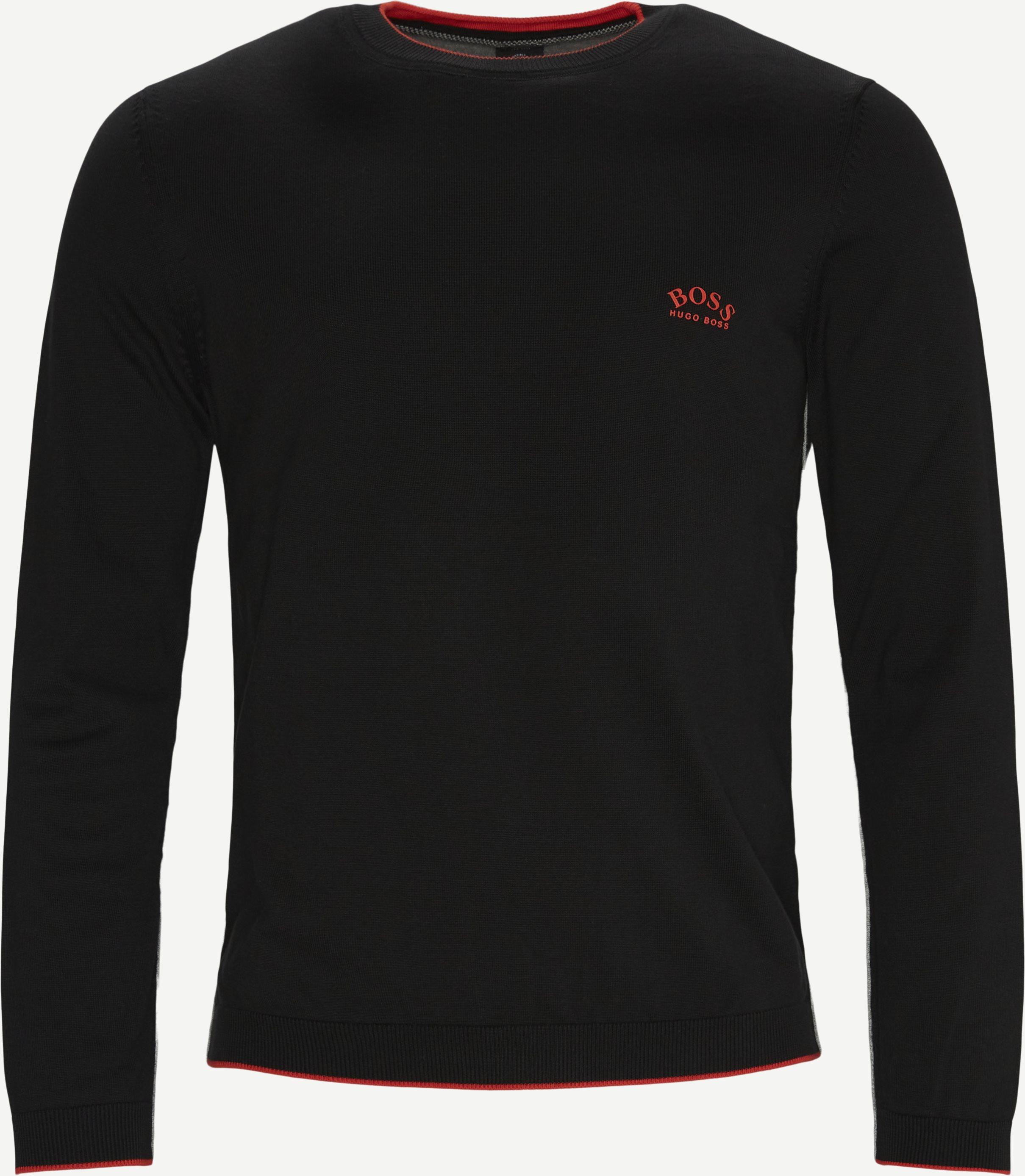 Riston Striktrøje - Knitwear - Regular - Black