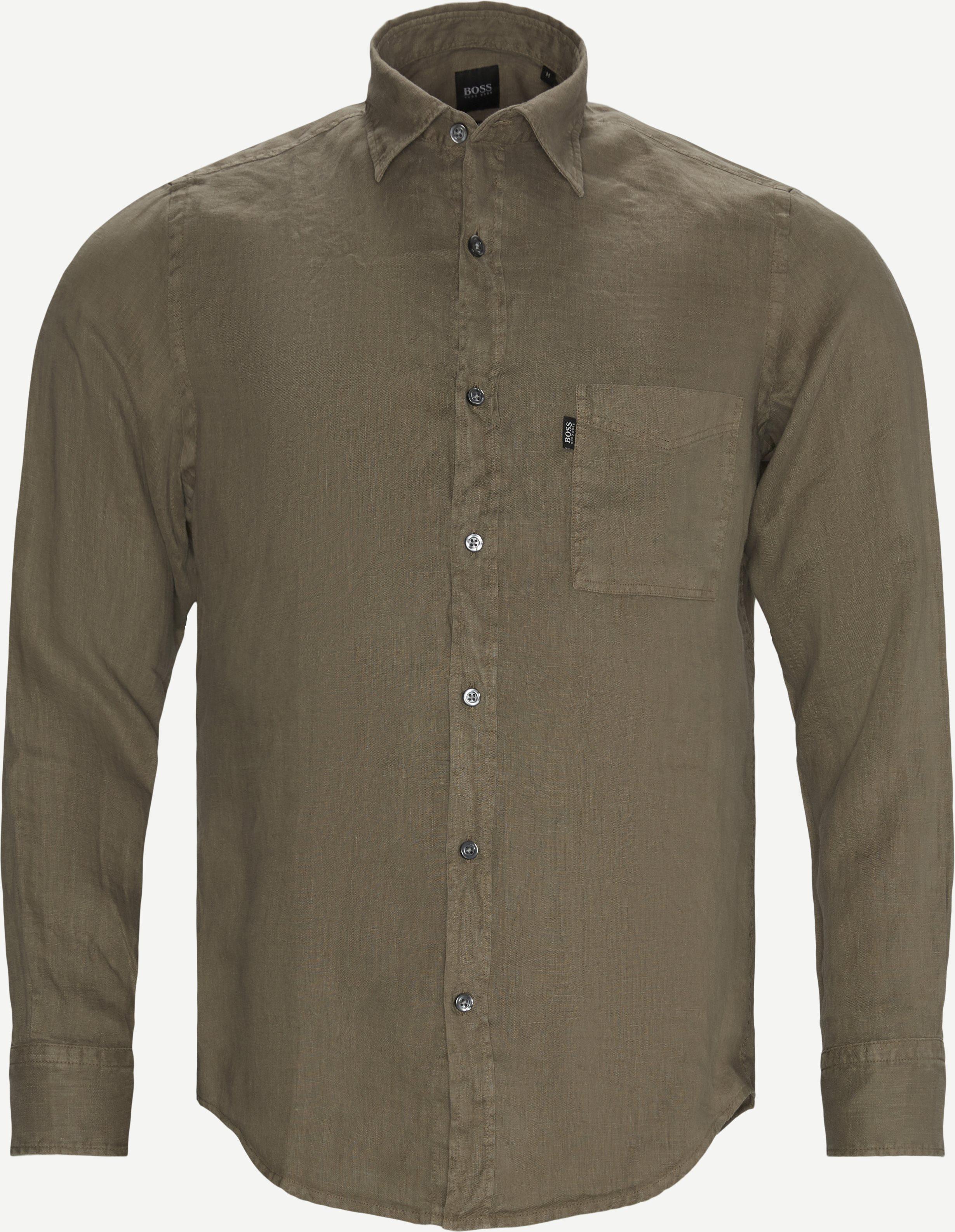 Relegant_2 Shirt - Skjortor - Regular - Sand