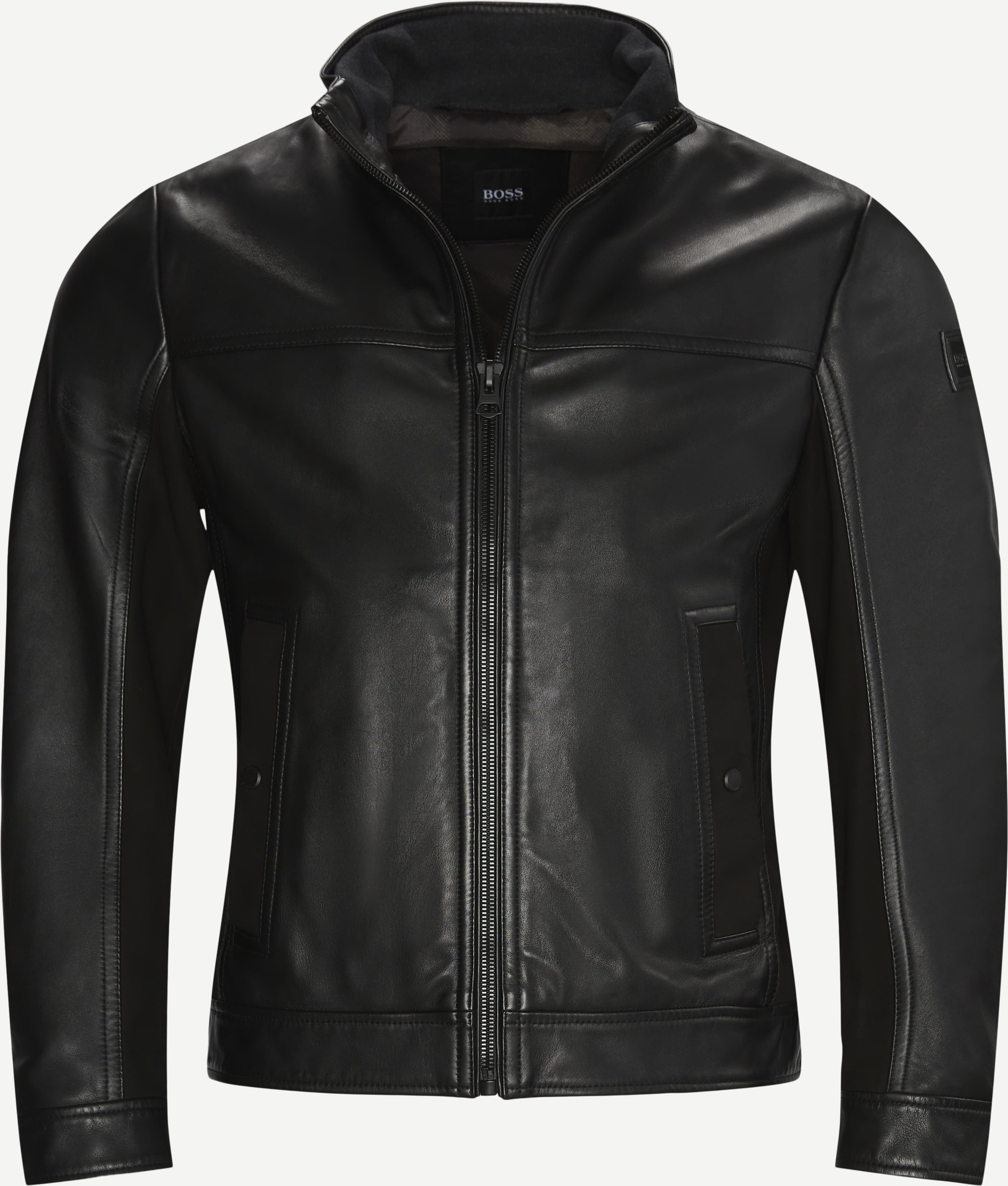 Joles Leather Jacket - Jakker - Regular - Sort