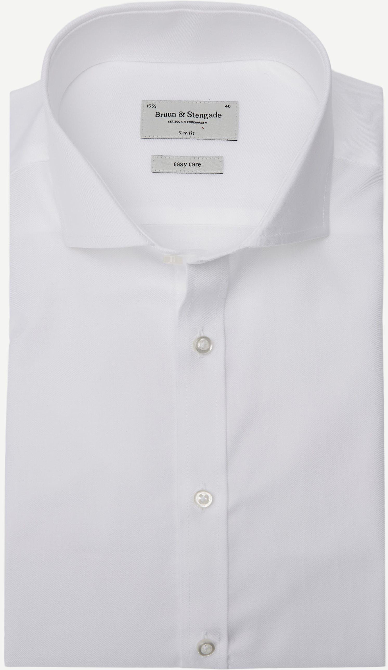 Leonardo Skjorte - Skjorter - Slim fit - Hvid