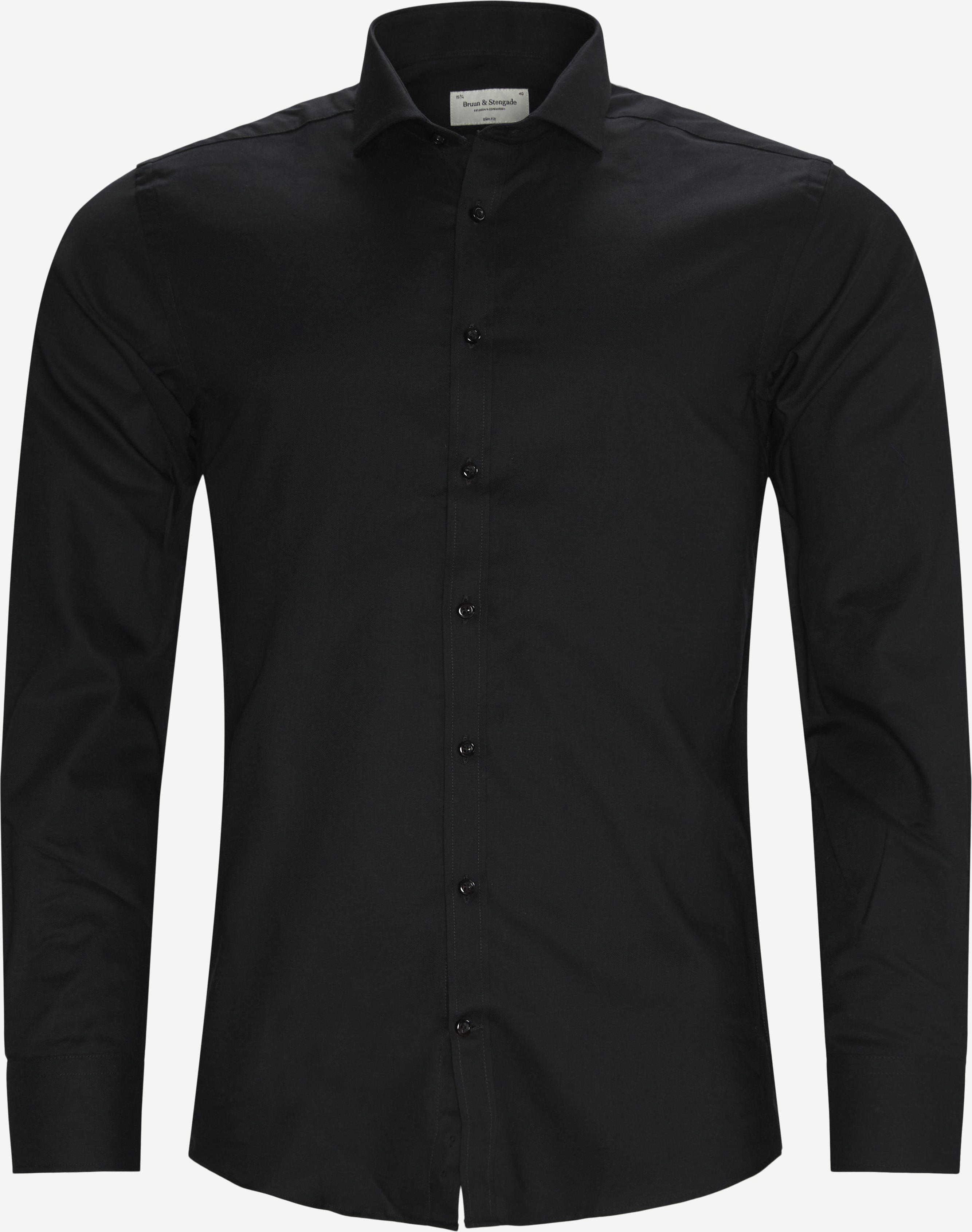 Leonardo Skjorte - Skjorter - Slim fit - Sort