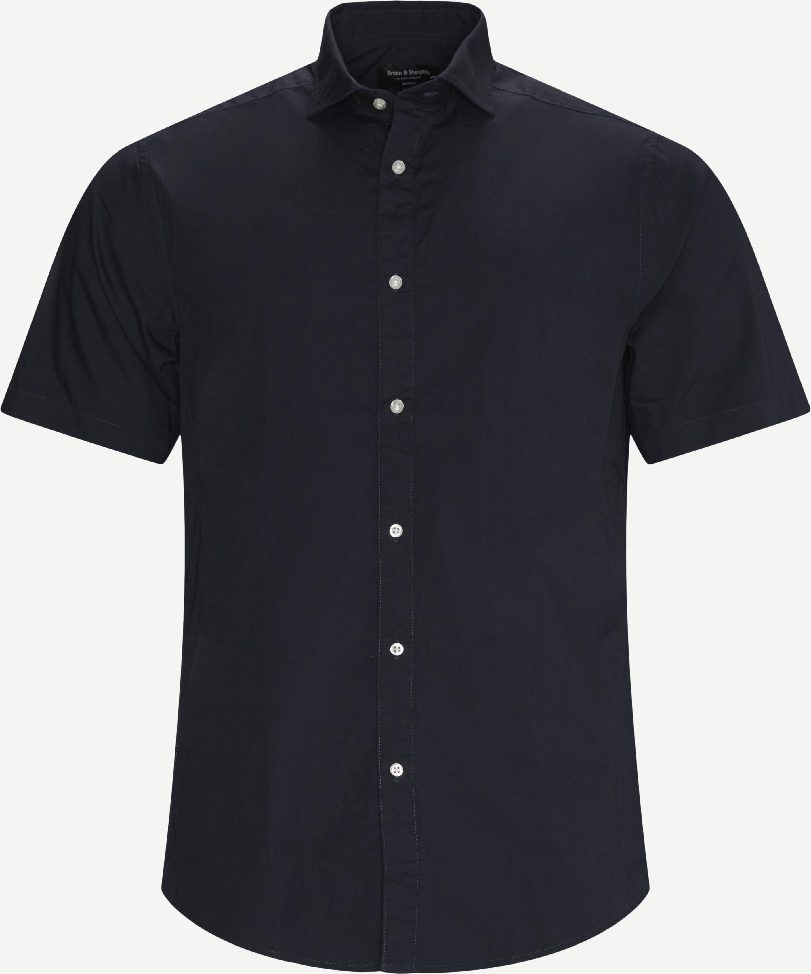 Yoko K/Æ Skjorte - Kortärmade skjortor - Regular - Blå