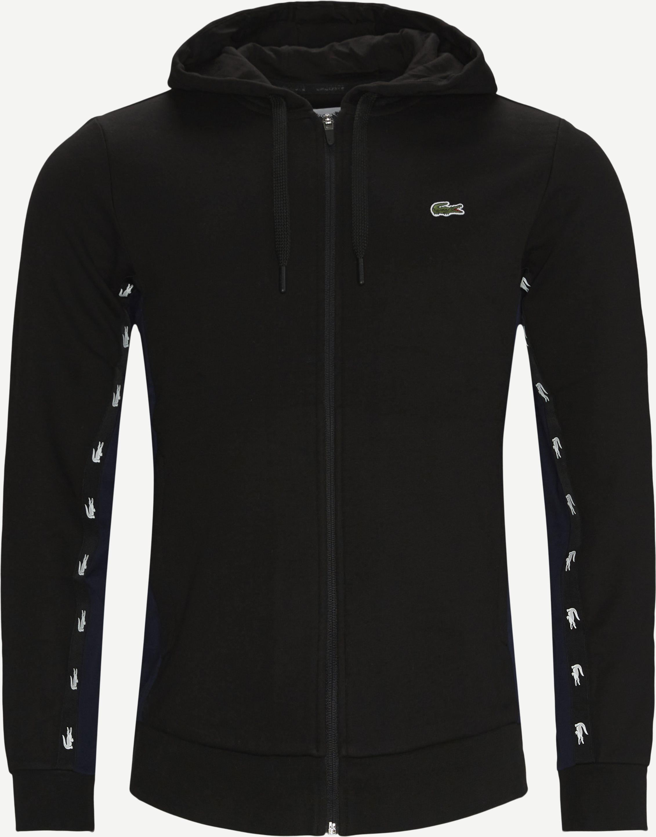 Zip Hoodie - Sweatshirts - Regular fit - Black