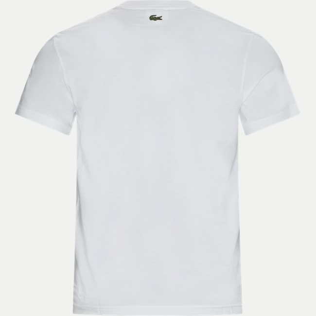 Crew Neck Crocodile Embroidery Cotton T-shirt