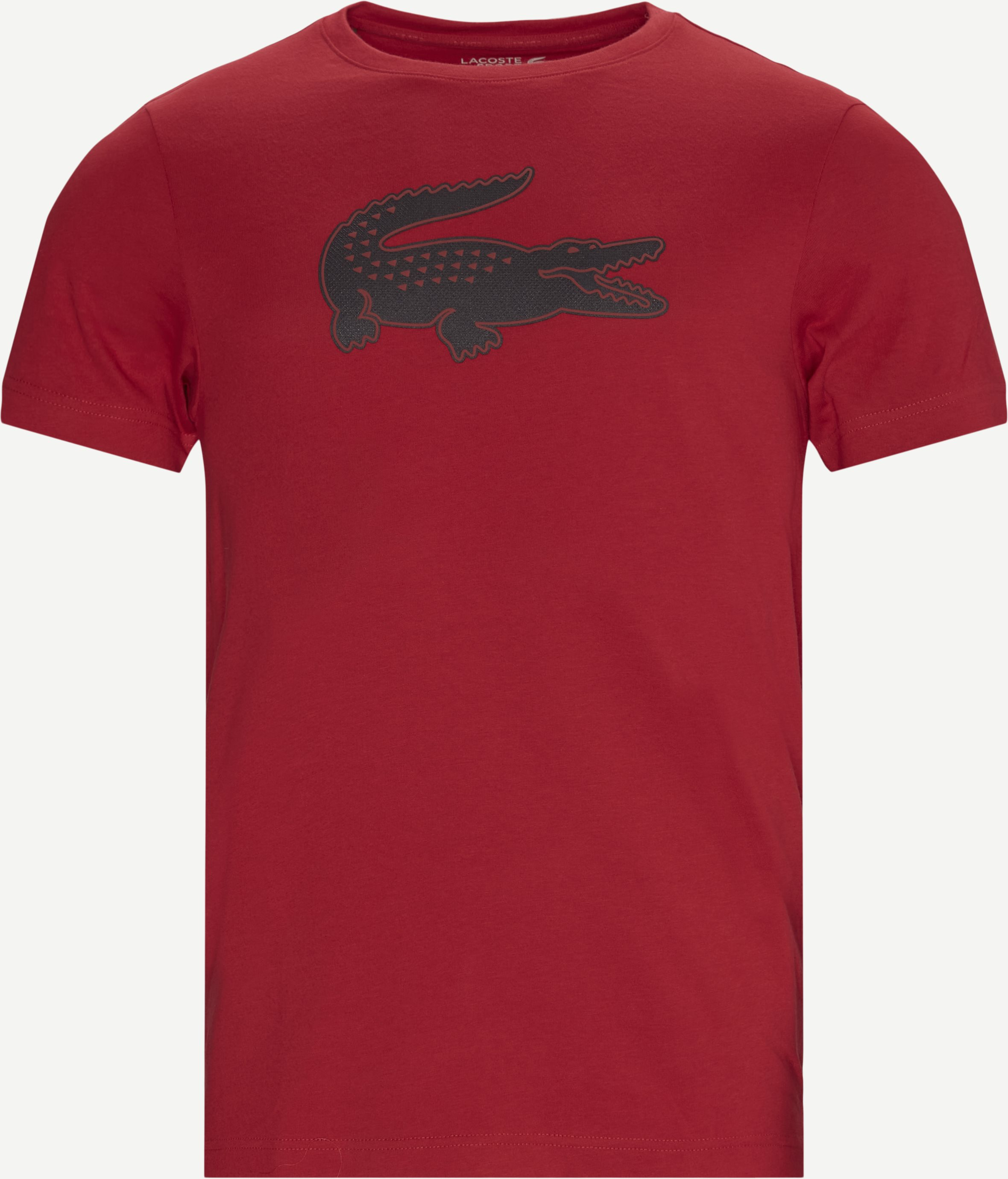 3D Print Crocodile Breathable Jersey T-shirt - T-shirts - Regular - Rød