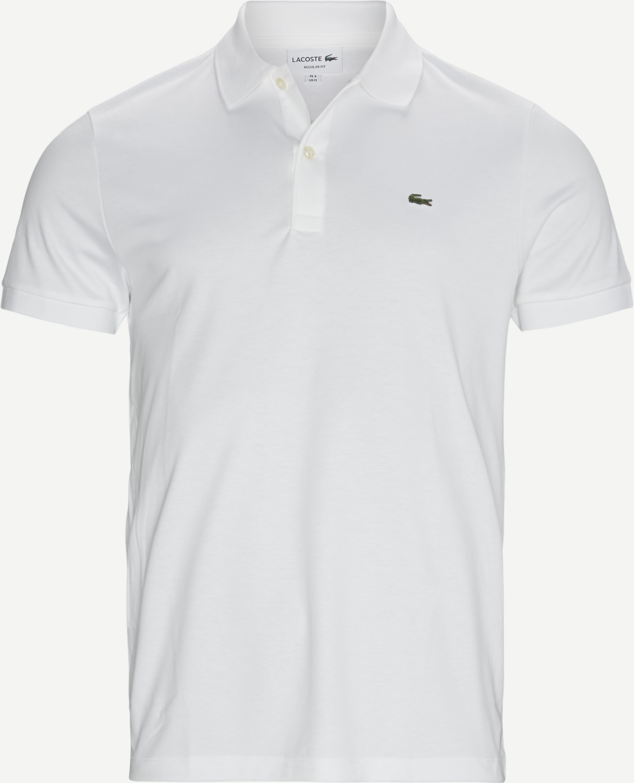 Jersey Polo T-shirt - T-shirts - Regular - Hvid