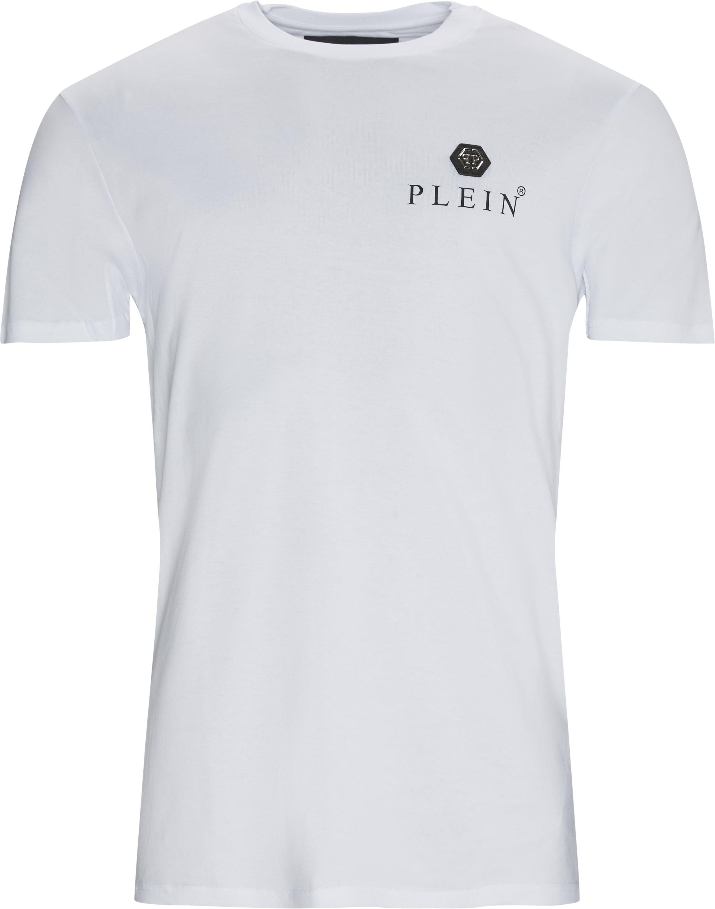 Iconic Plein Tee - T-shirts - Loose fit - Hvid
