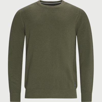 Rund hals Strik  Regular fit | Rund hals Strik  | Army