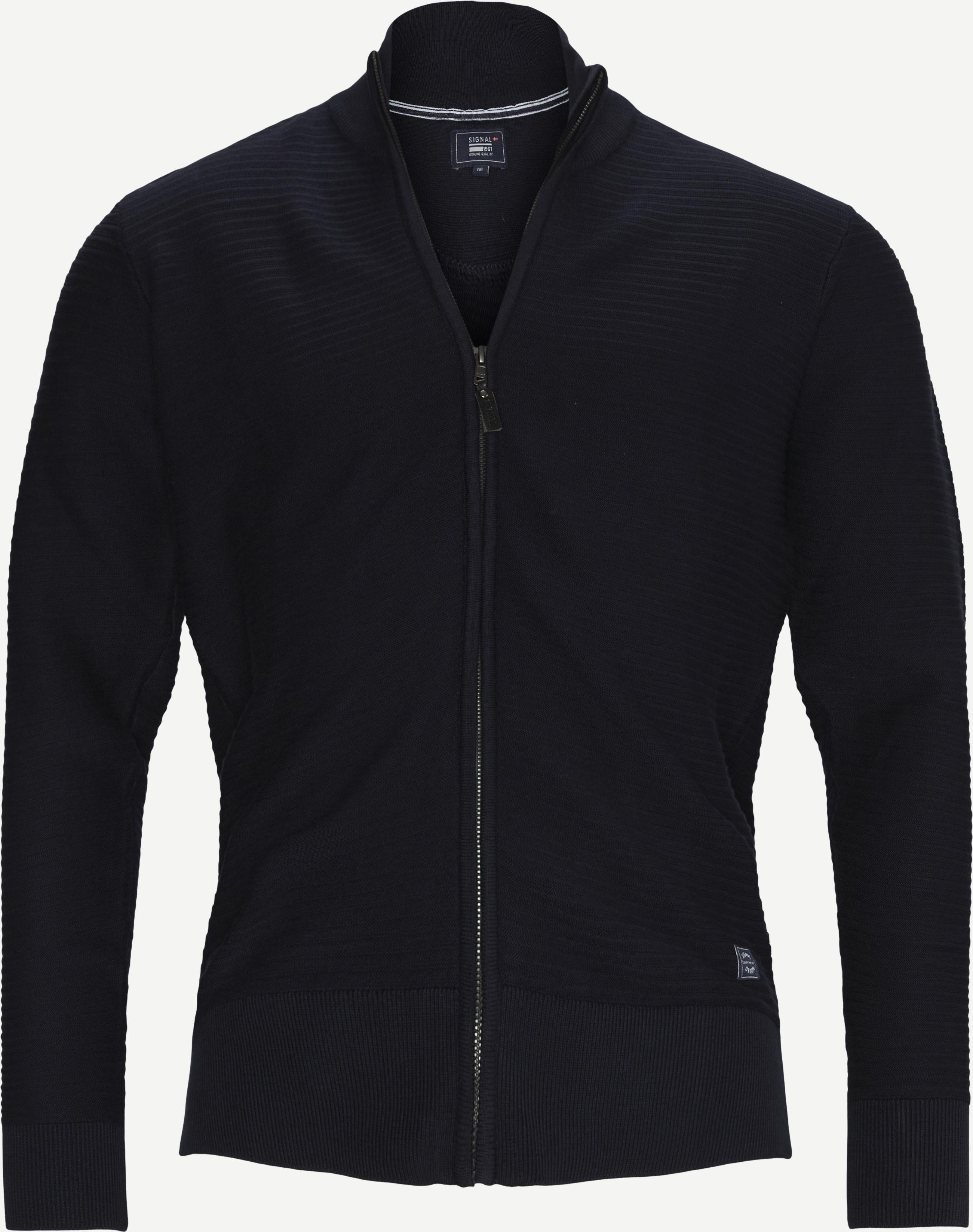 Cardigan Strik - Stickat - Regular - Blå