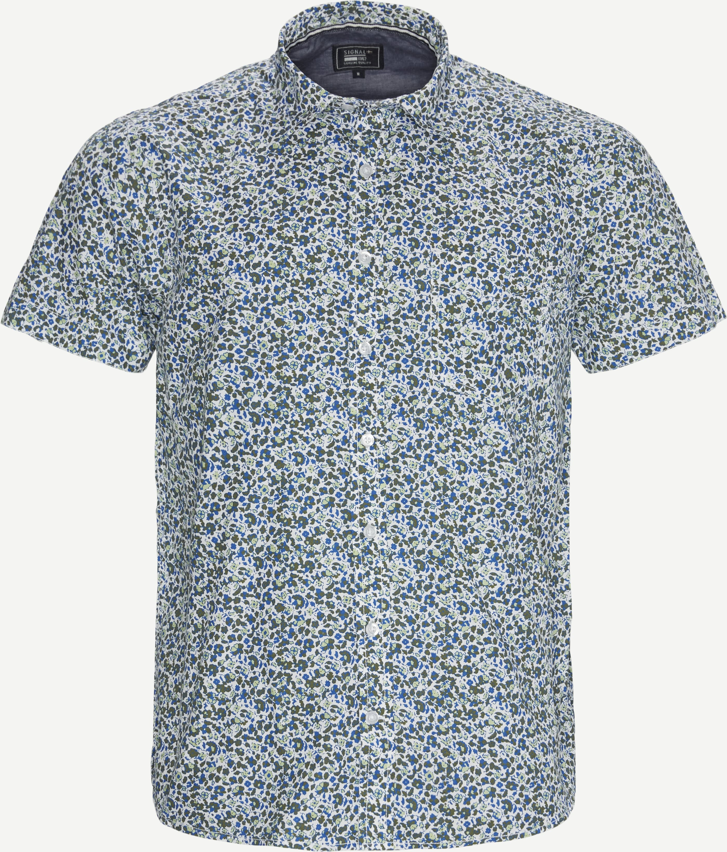 Arthur K/Æ Skjorte - Short-sleeved shirts - Regular - Army