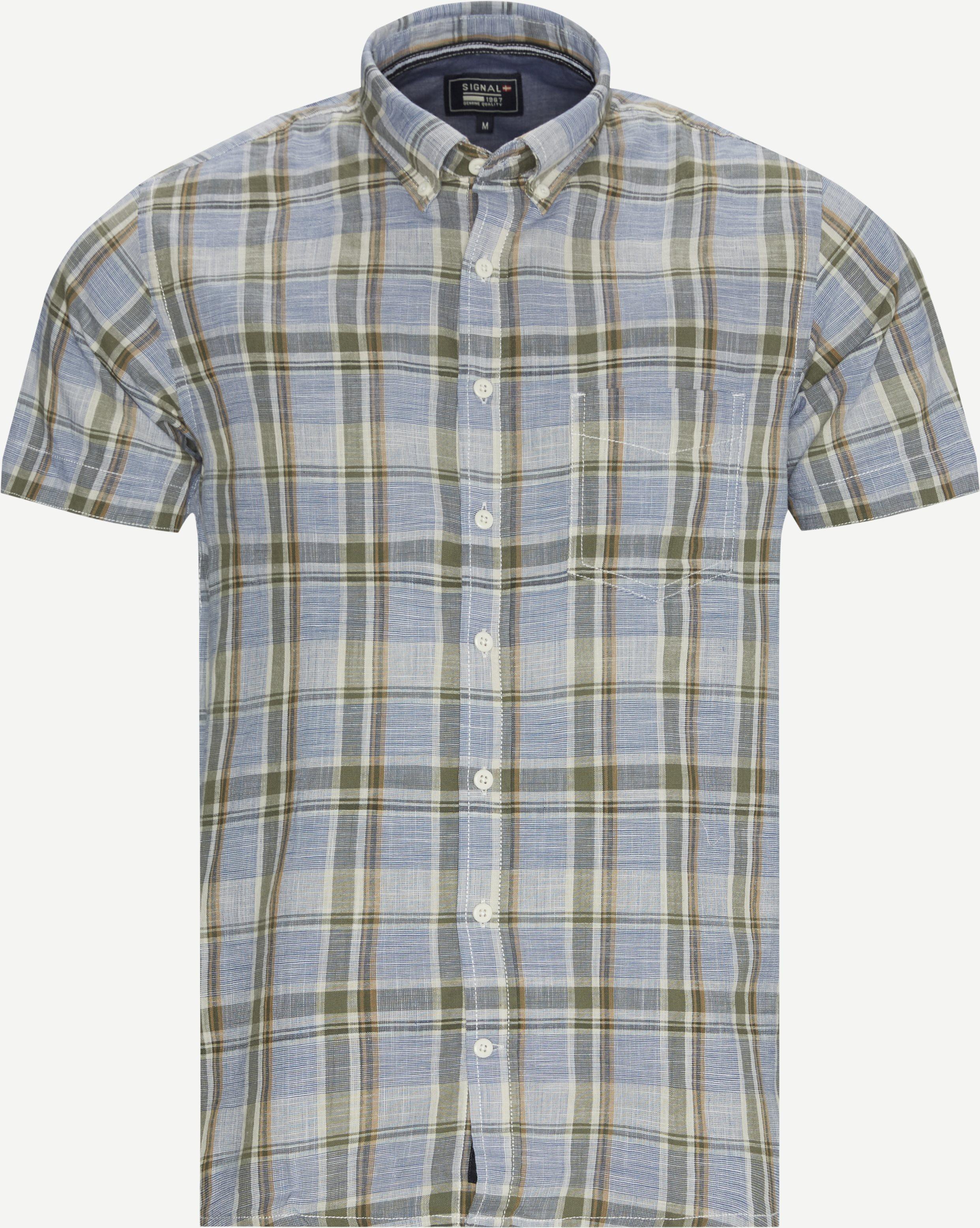 Kurzärmlige Hemden - Oliv