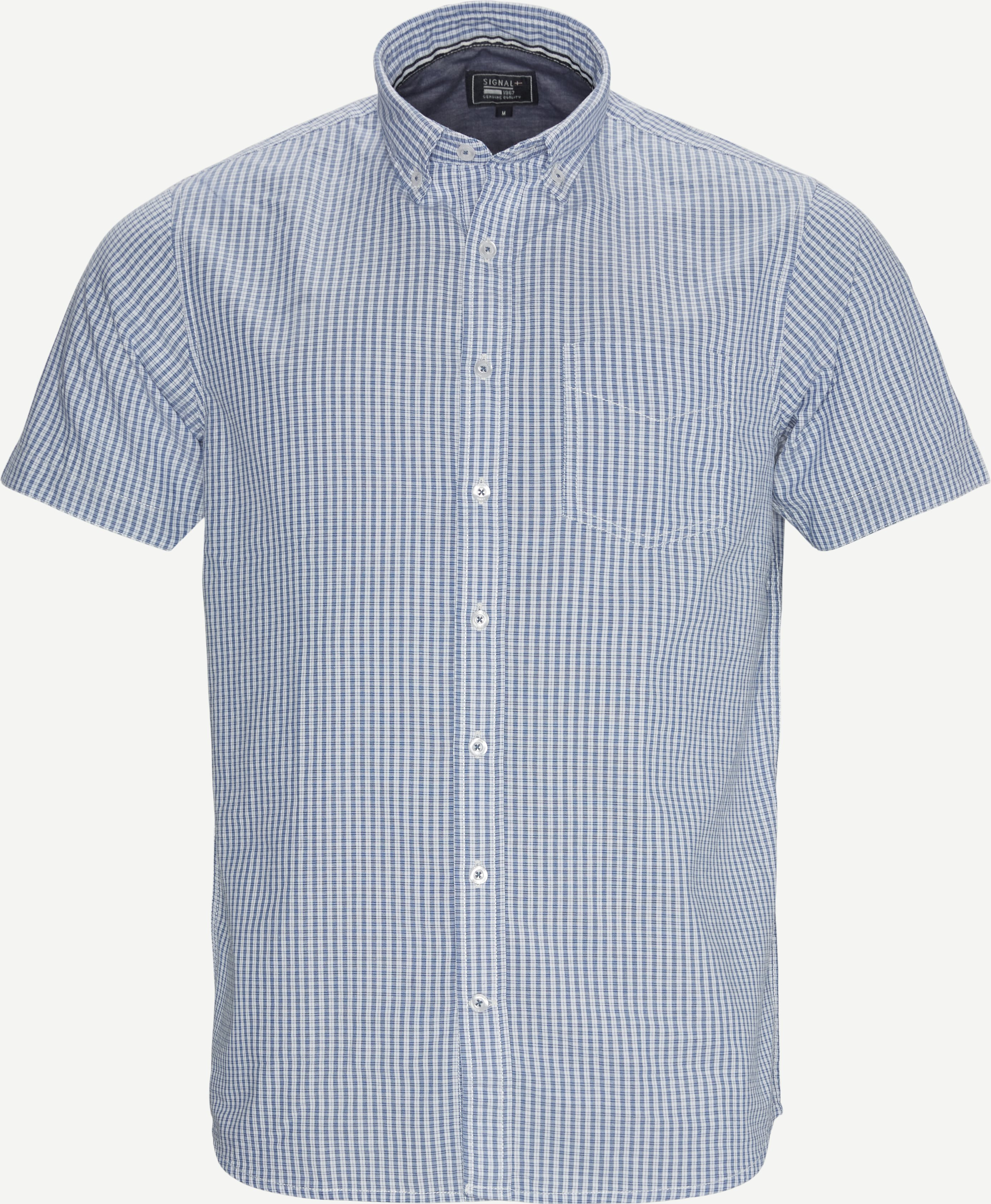 Kurzärmlige Hemden - Regular - Blau