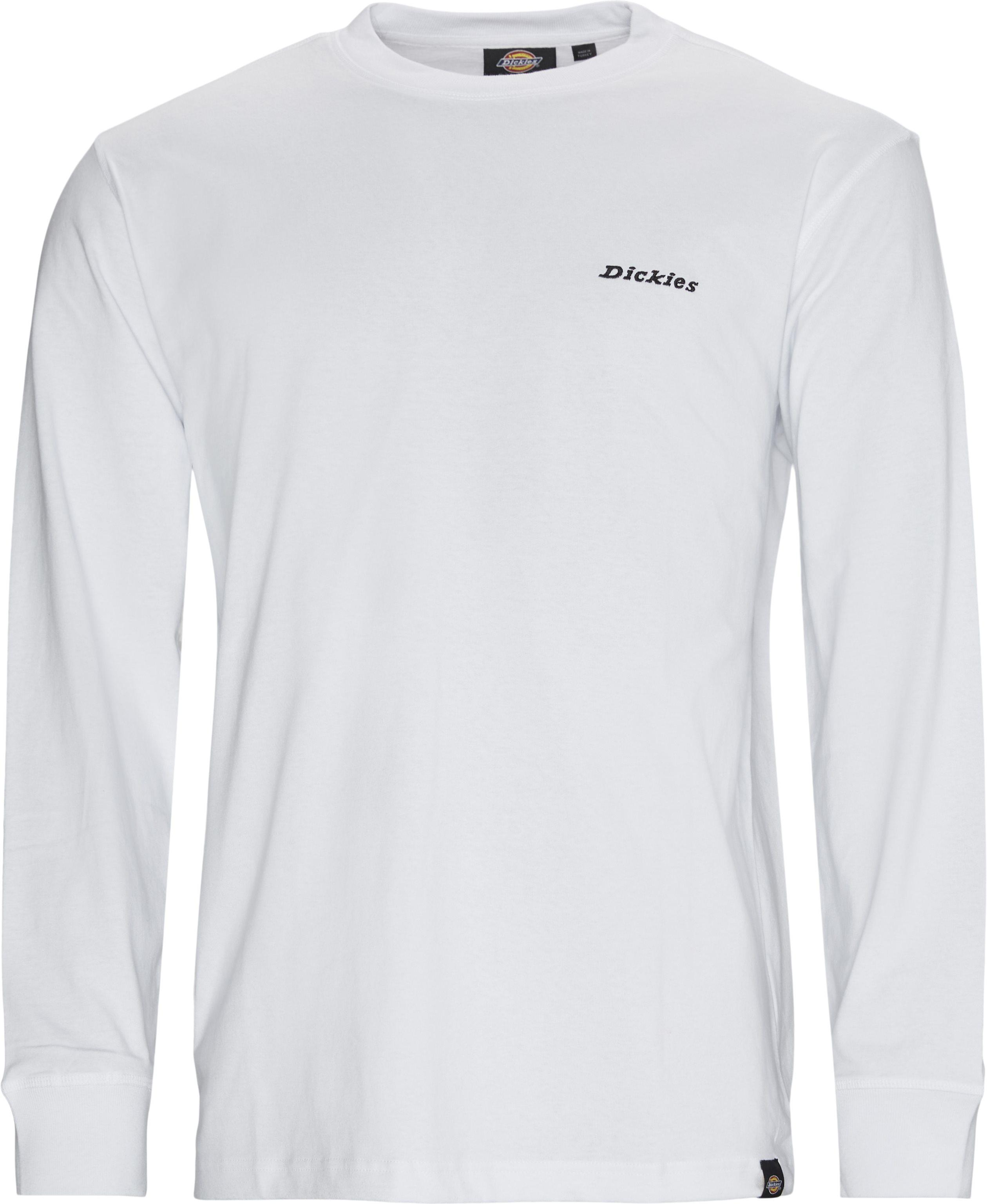 LS Loretto Langærmet T-shirt - T-shirts - Regular fit - Hvid