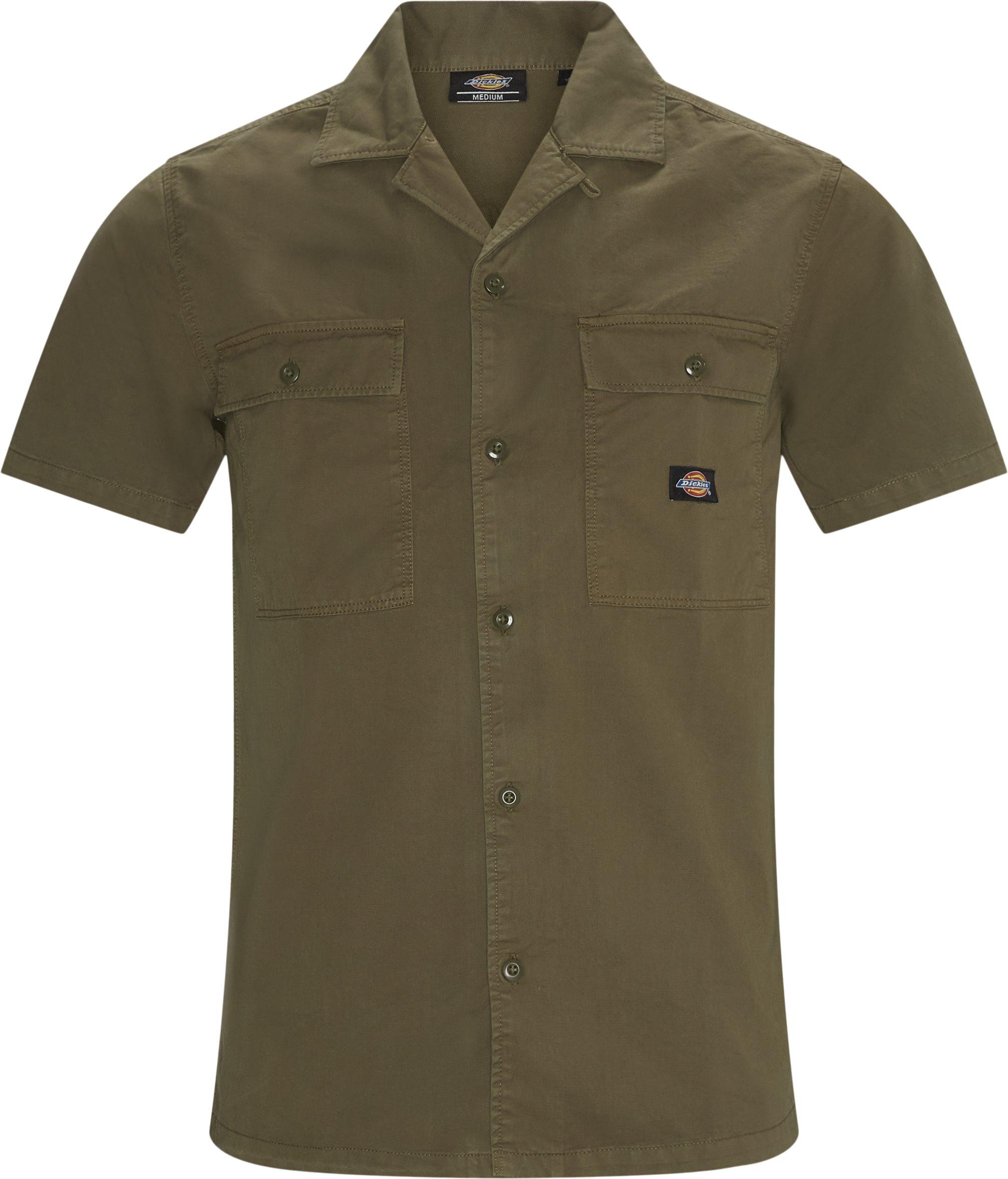 Skjortor - Regular fit - Grön
