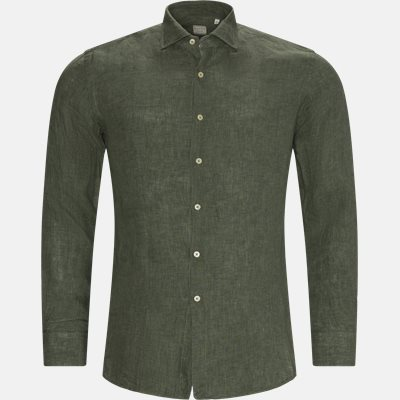 Hør Skjorte Slim fit | Hør Skjorte | Grøn