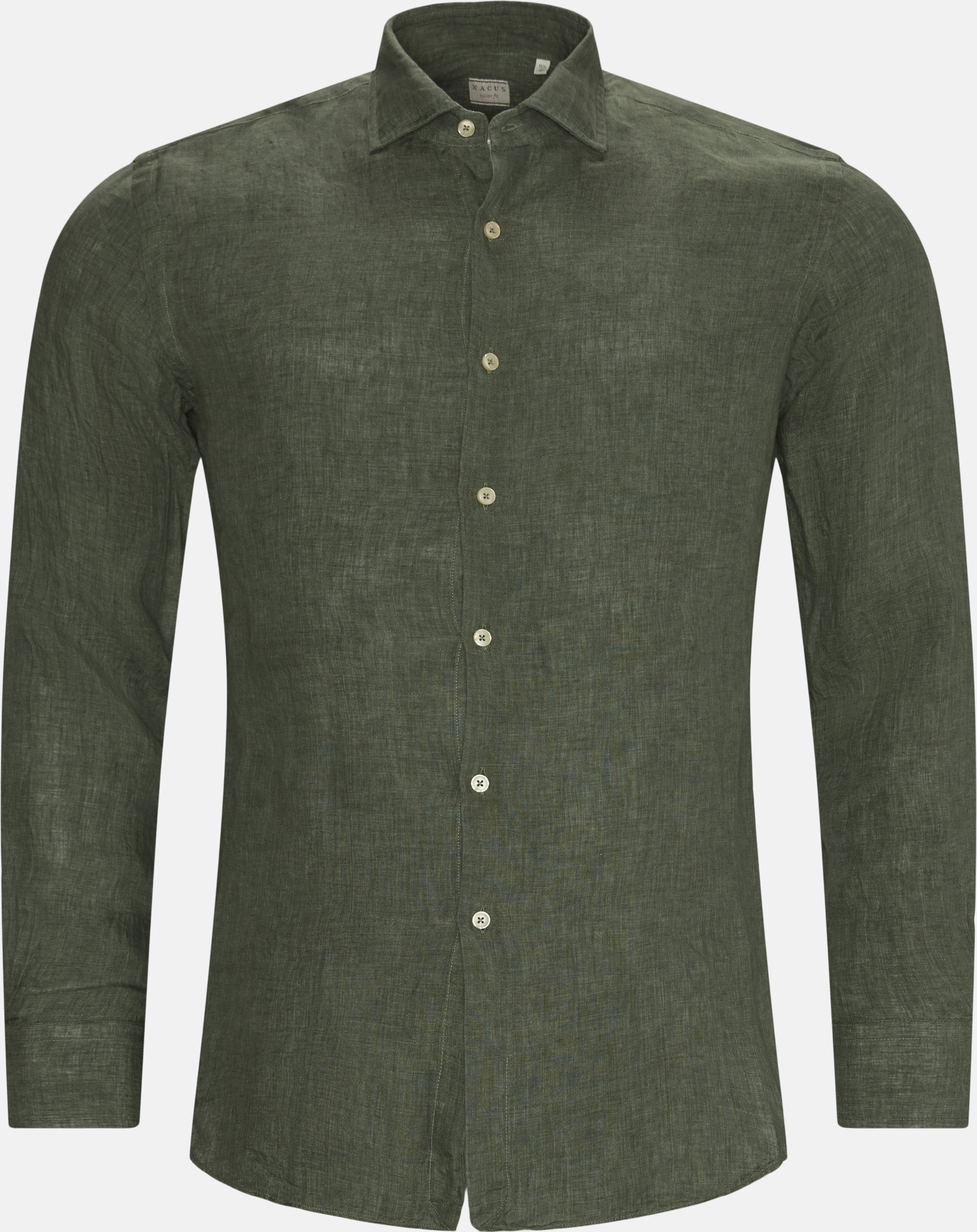 Hør Skjorte - Skjorter - Slim - Grøn