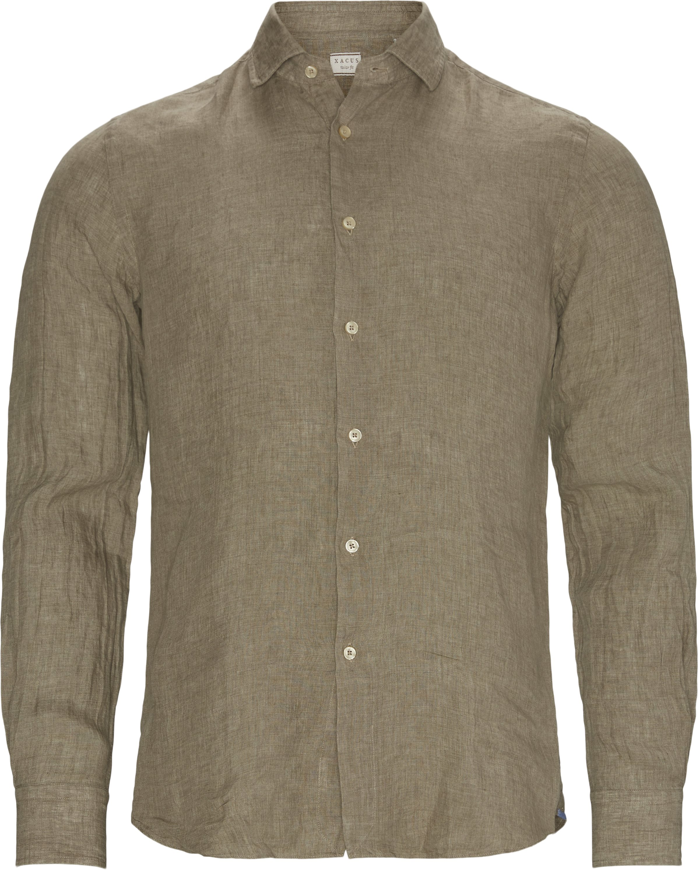 Shirts - Slim fit - Brown