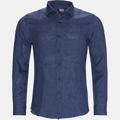 Hør skjorte Tailored fit | Hør skjorte | Blå